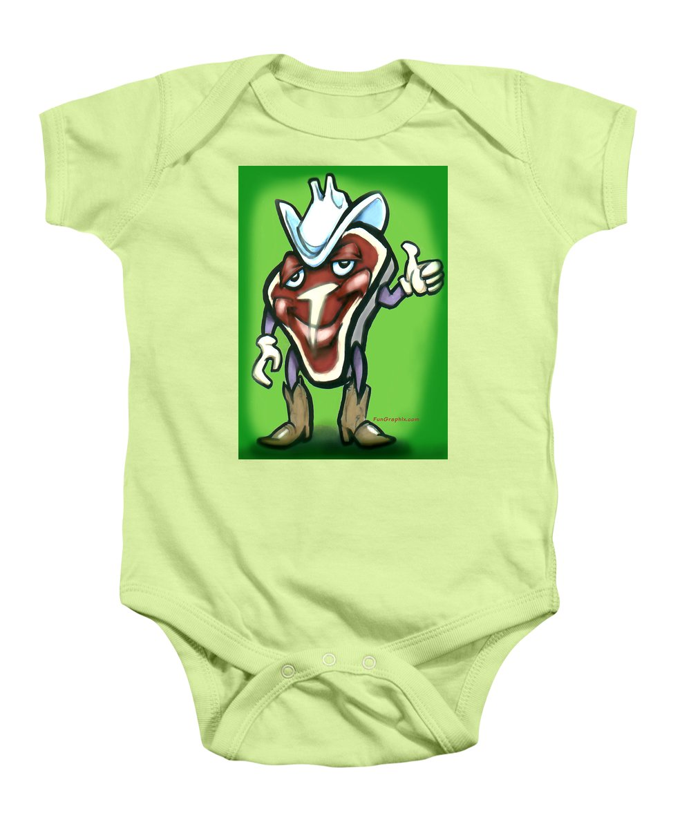 Steak Baby Onesie featuring the digital art Steak by Kevin Middleton