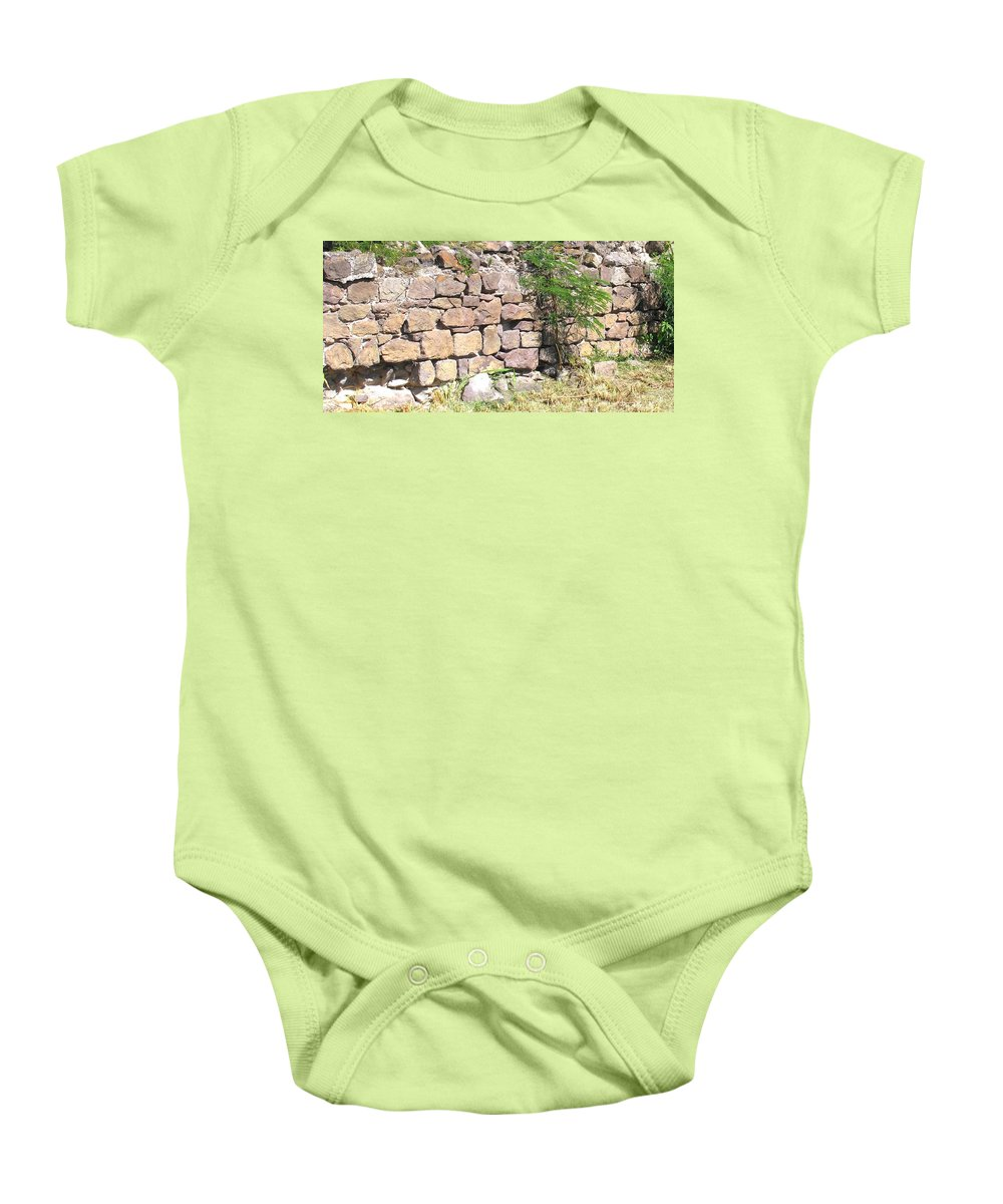 Stone Wall Baby Onesie featuring the photograph Stone Wall by Ian MacDonald