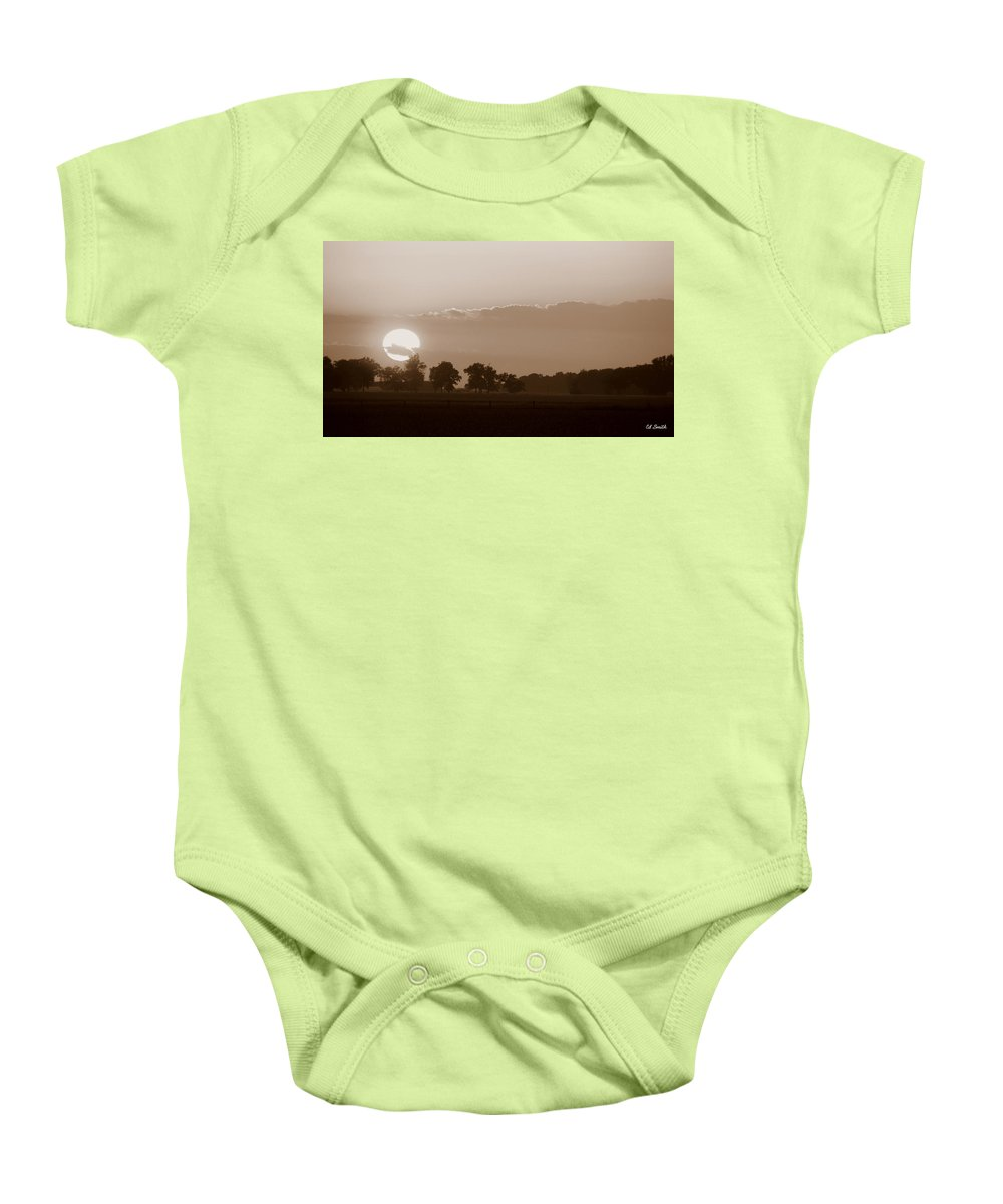 Sunday Sunset Baby Onesie featuring the photograph Sunday Sunset by Ed Smith