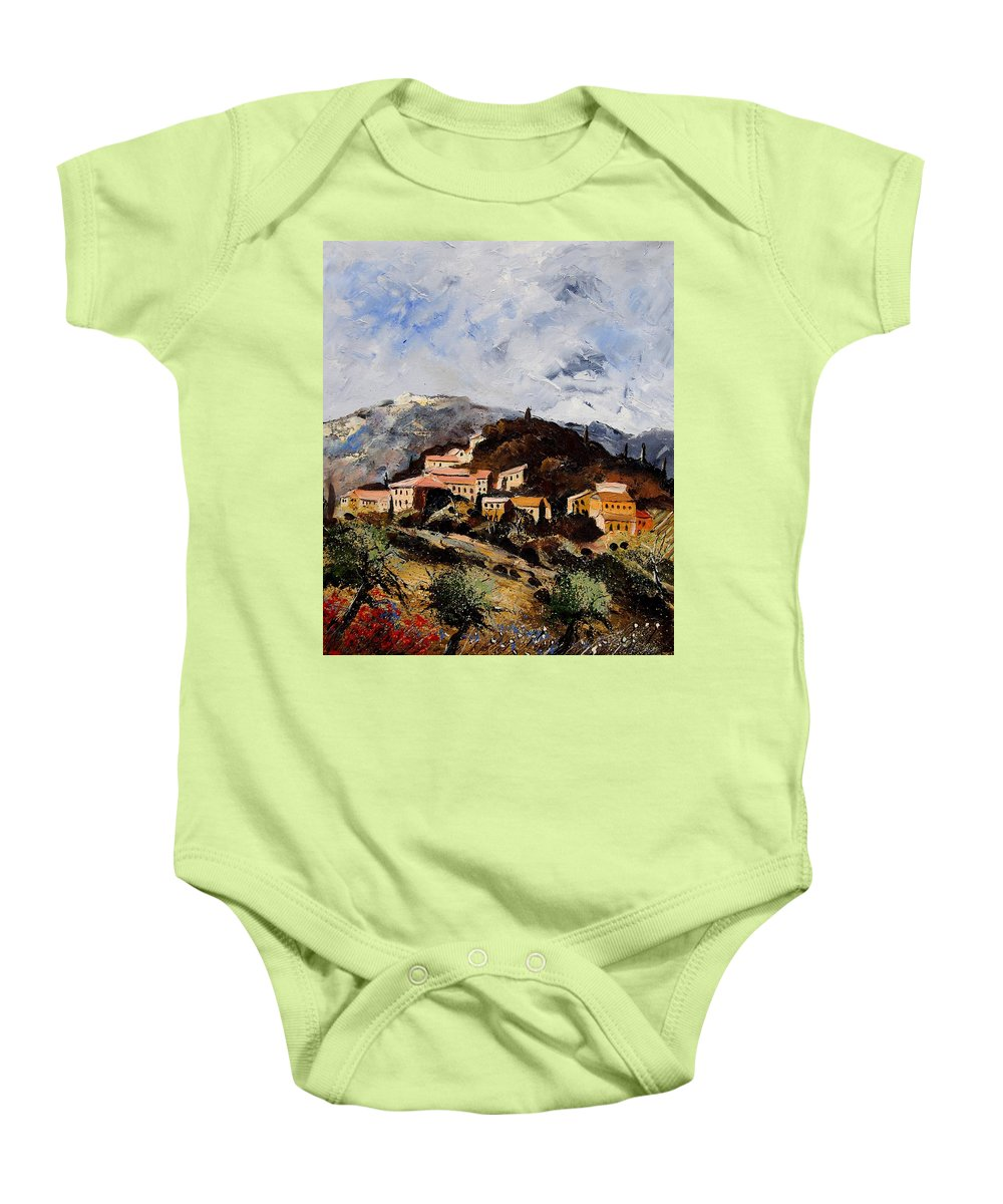 Tree Baby Onesie featuring the painting Suzette Provence by Pol Ledent