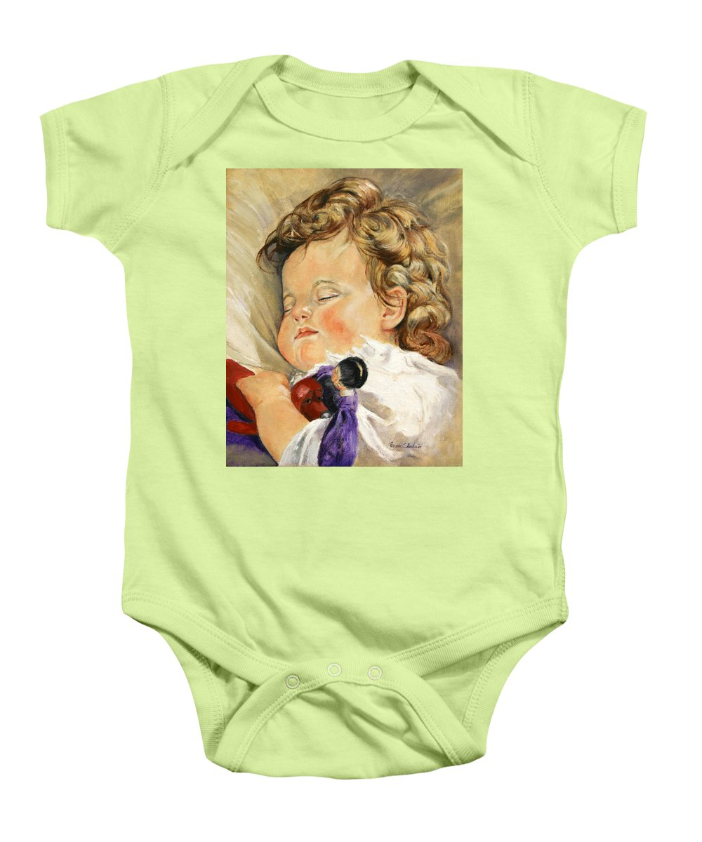 Children Portraits Baby Onesie featuring the painting Sweet Dreams by Portraits By NC