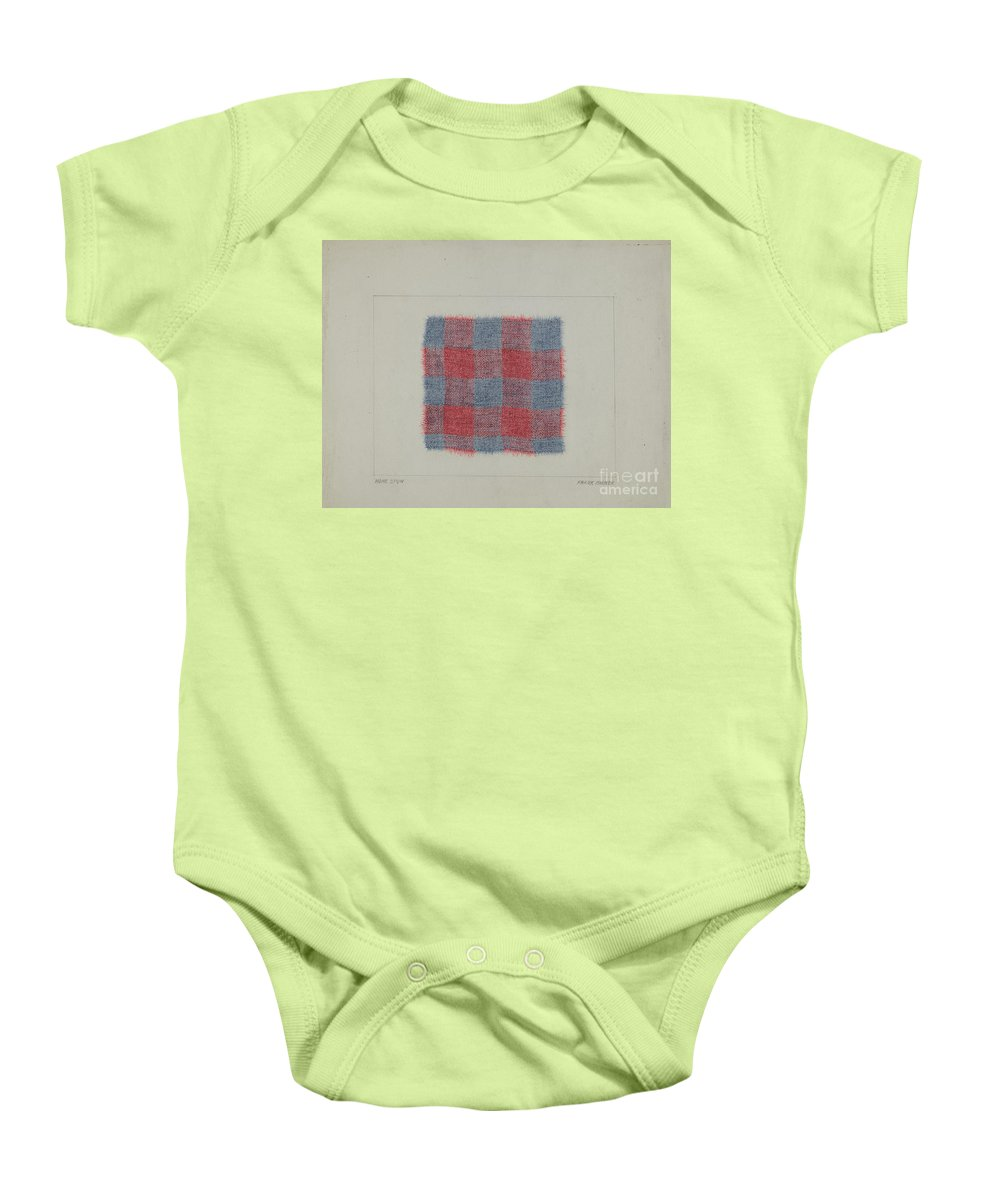 Baby Onesie featuring the drawing Textile by Frank Maurer