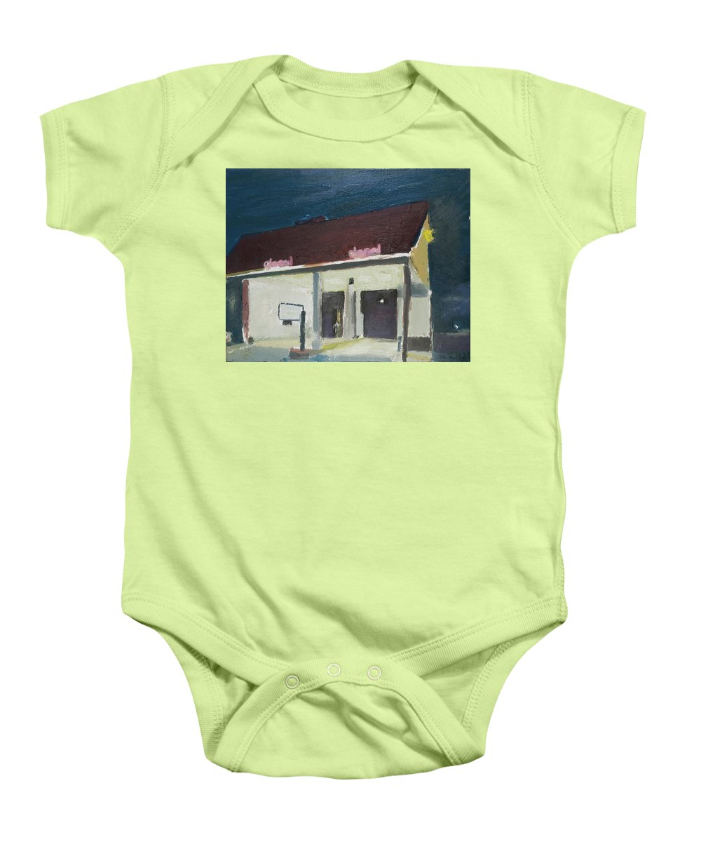Bank Baby Onesie featuring the painting The Bank by Craig Newland