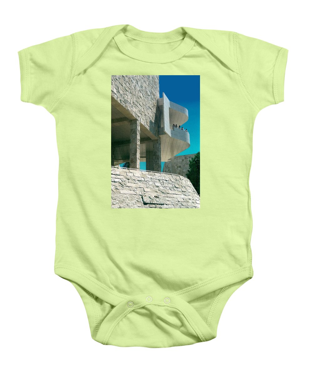 Architecture Baby Onesie featuring the photograph The Getty Panel Three From Triptych by Steve Karol