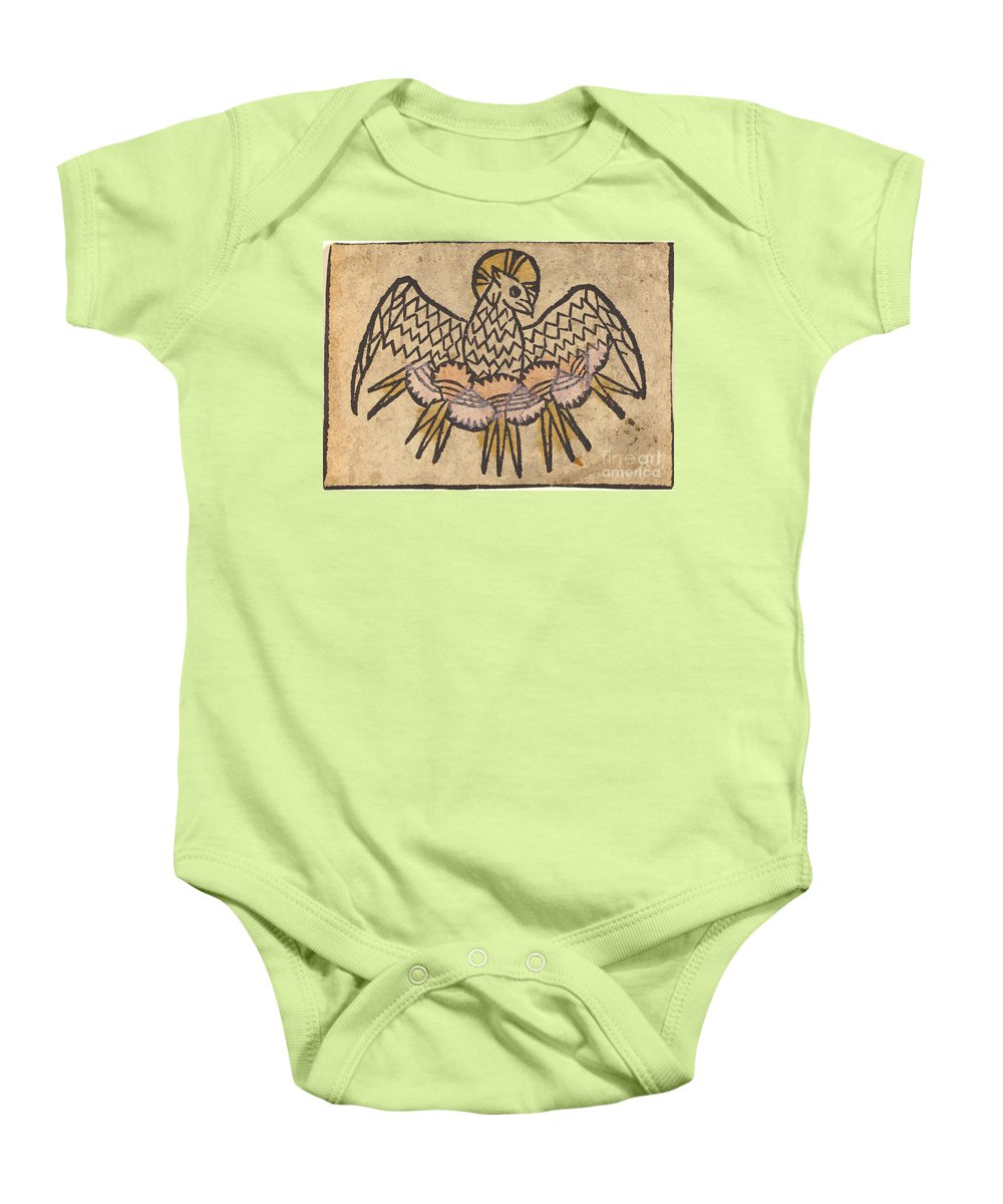 Baby Onesie featuring the drawing The Holy Ghost by German 15th Century