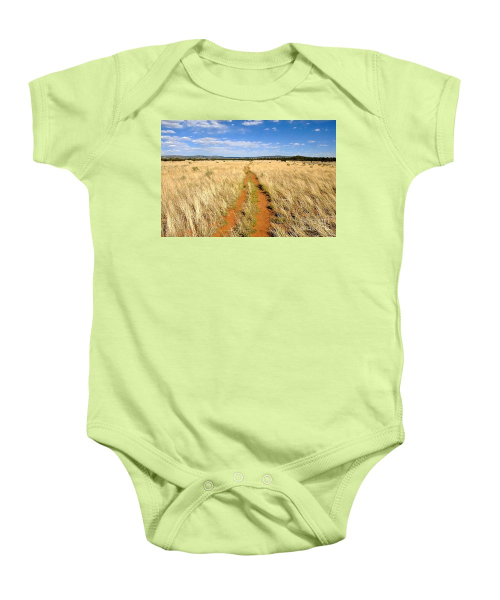 Trail Baby Onesie featuring the photograph The Westward Trail by David Lee Thompson