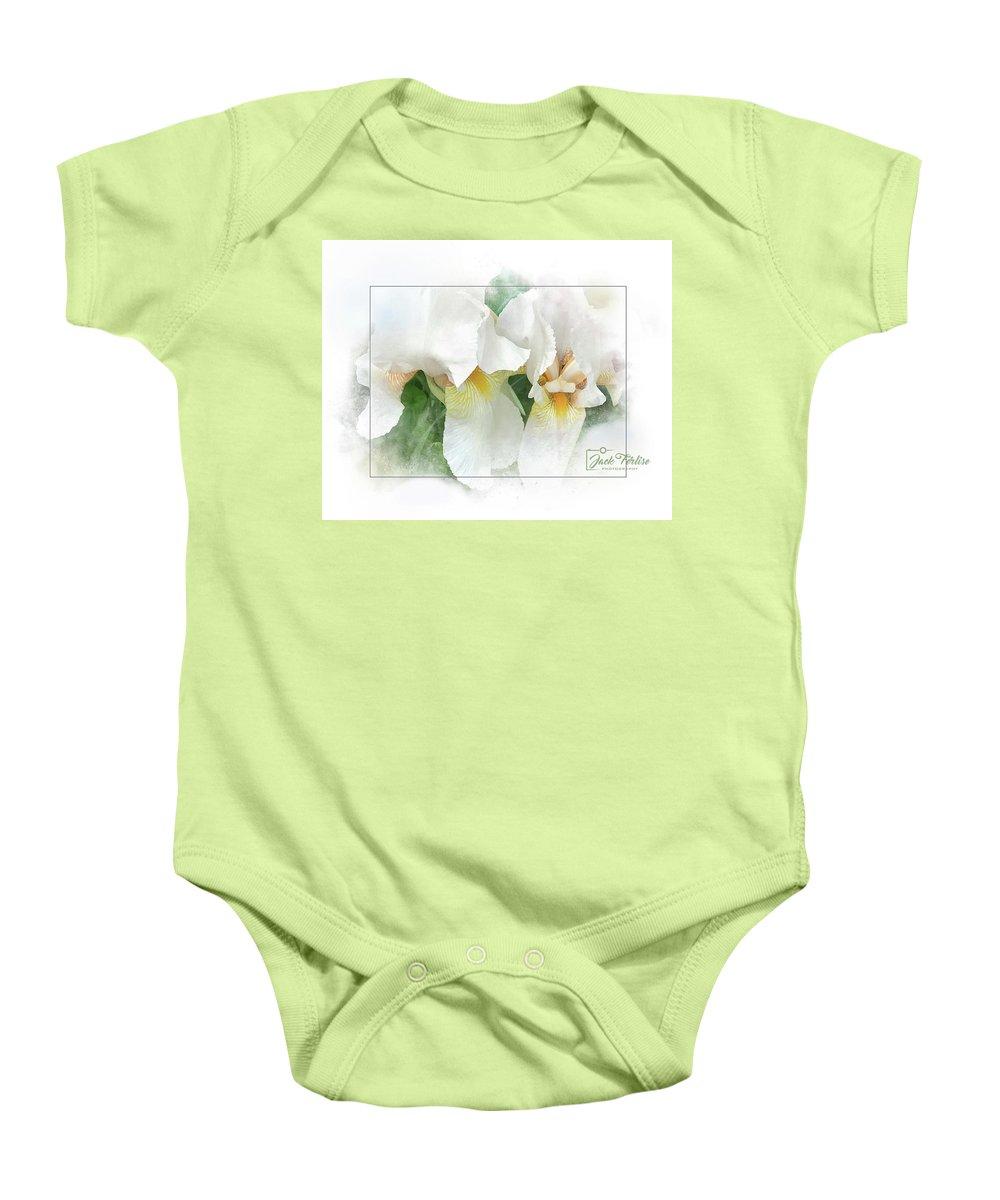 #white Irises Baby Onesie featuring the photograph The Whispering Irises by Jack Ferlise