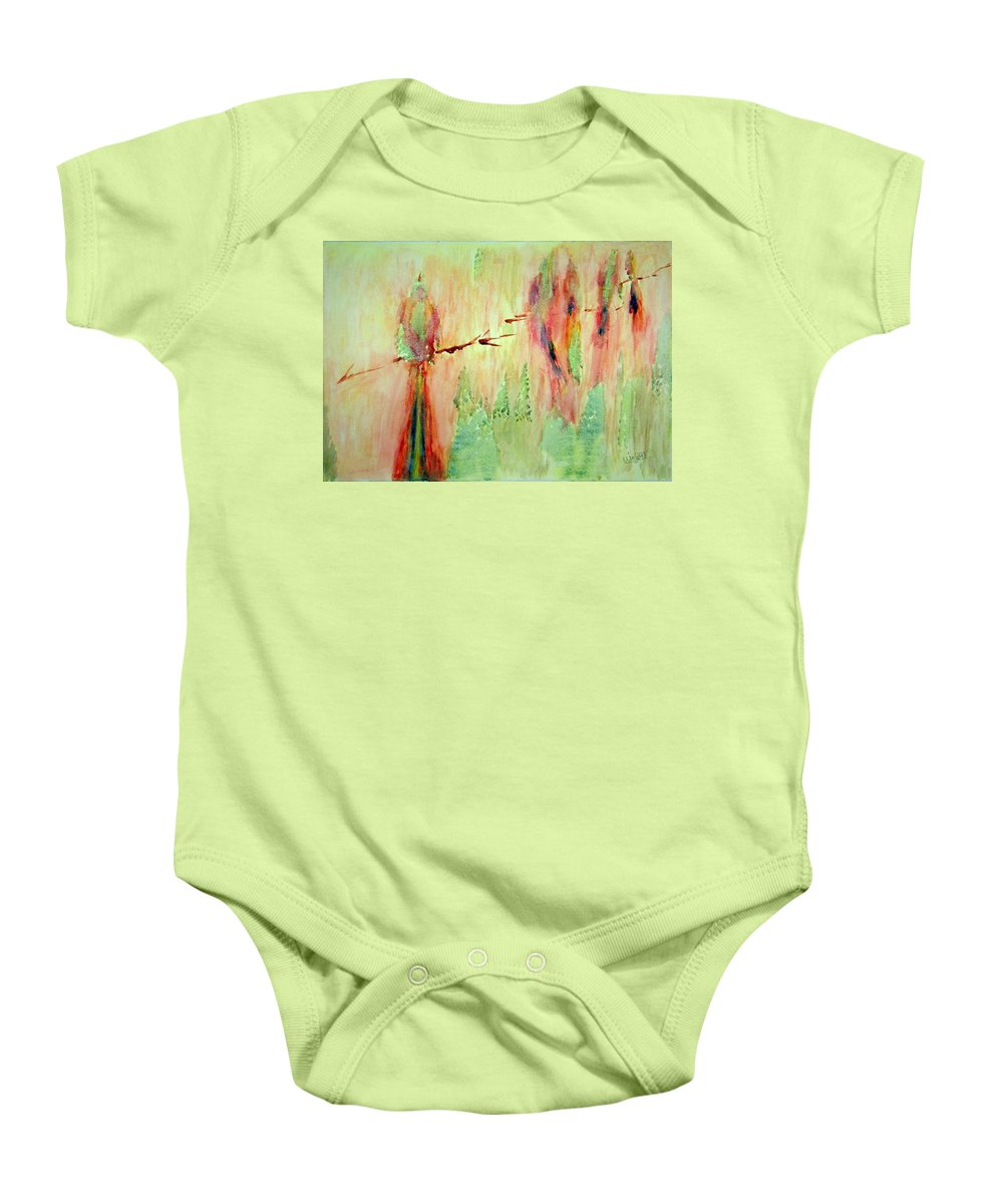 Abstract Art Baby Onesie featuring the painting This Must Be A Dream by Larry Wright