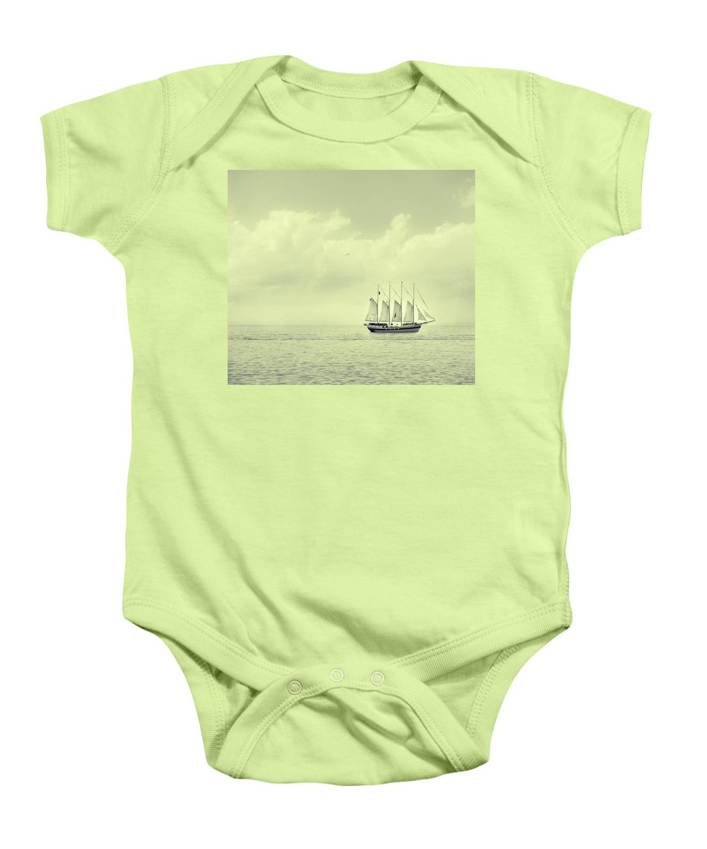 Ship Baby Onesie featuring the photograph To Hold Time In Your Hand by Dana DiPasquale