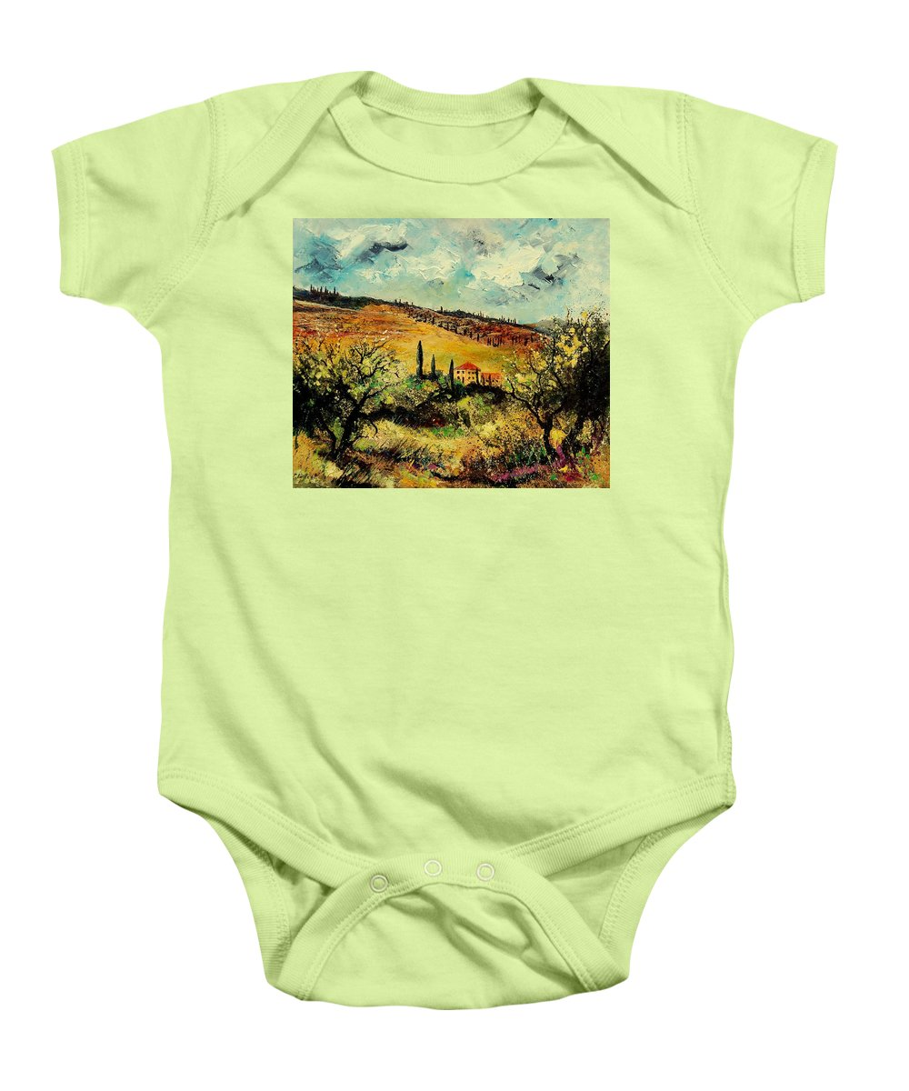 Provence Baby Onesie featuring the painting Tuscany 67 by Pol Ledent