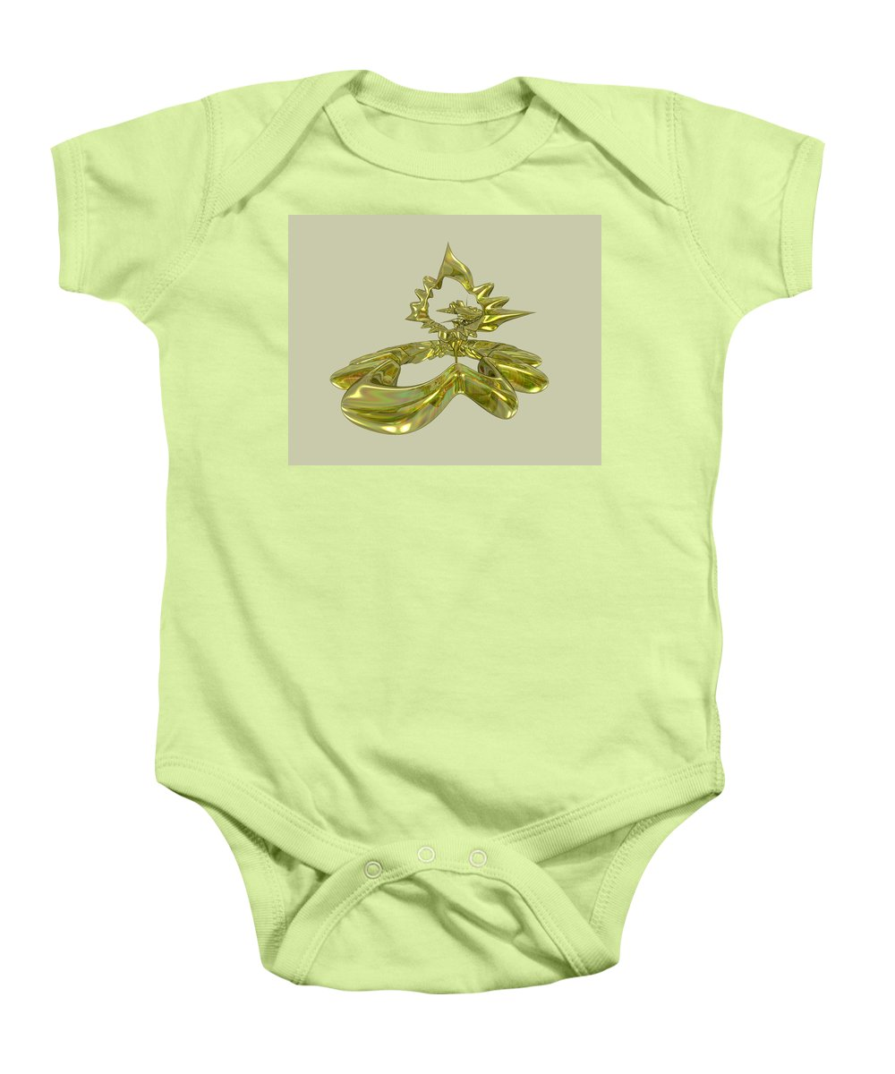 Fractal Baby Onesie featuring the digital art UFO by Frederic Durville