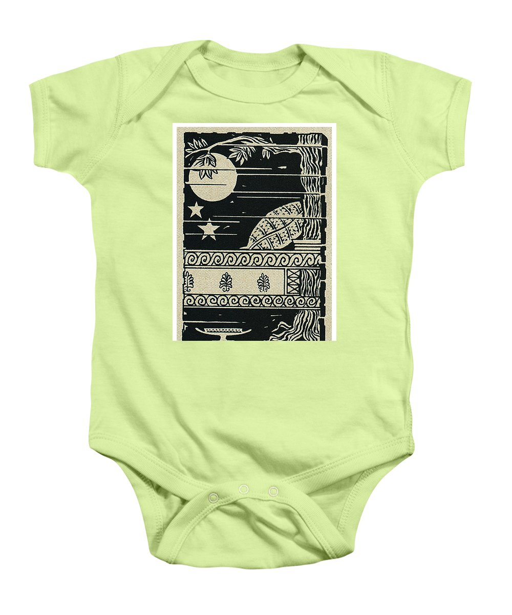 Ulysses 4 Baby Onesie featuring the drawing Ulysses 4 by Lance Miyamoto