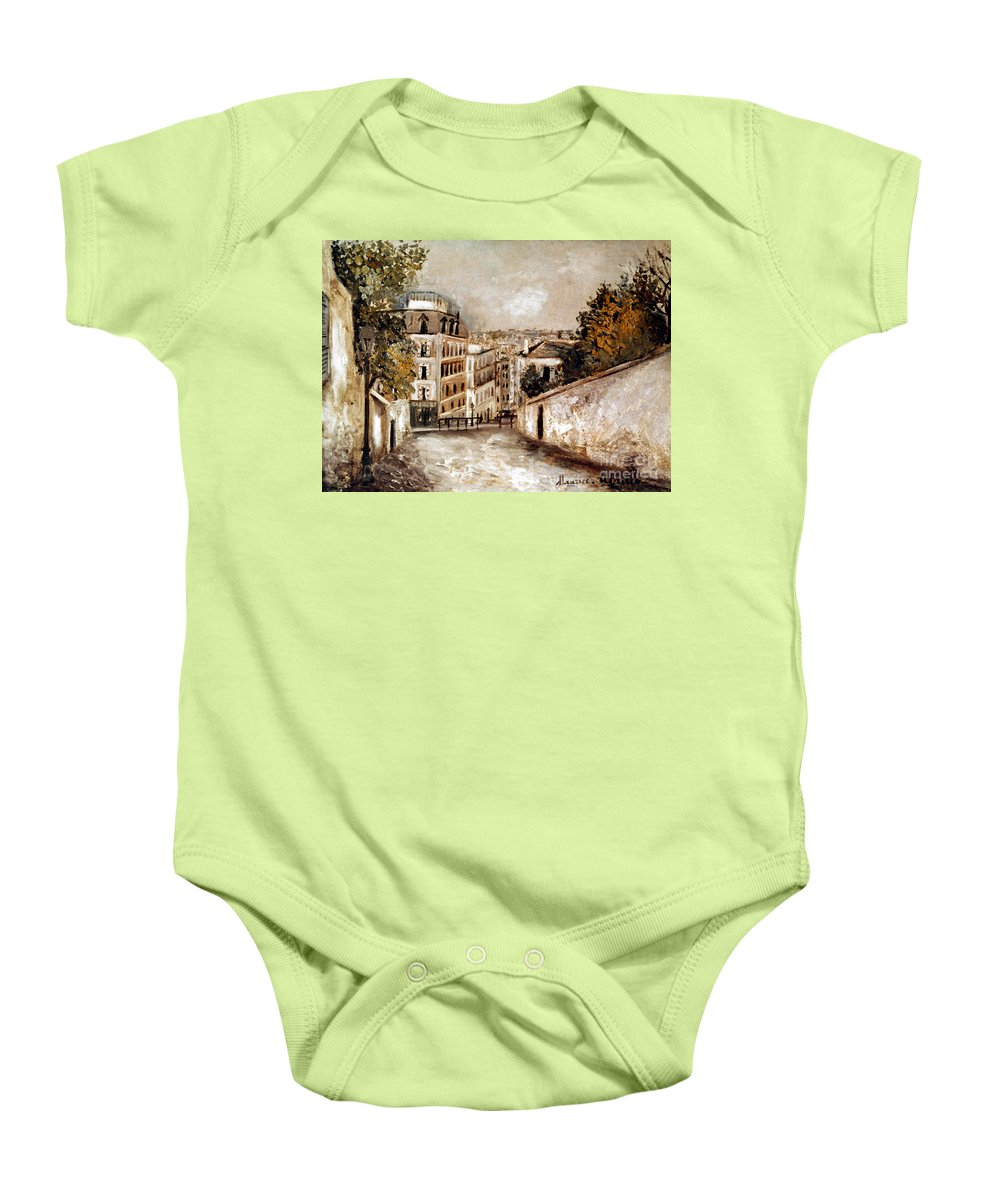 20th Century Baby Onesie featuring the photograph Utrillo: Montmartre, 20th C by Granger