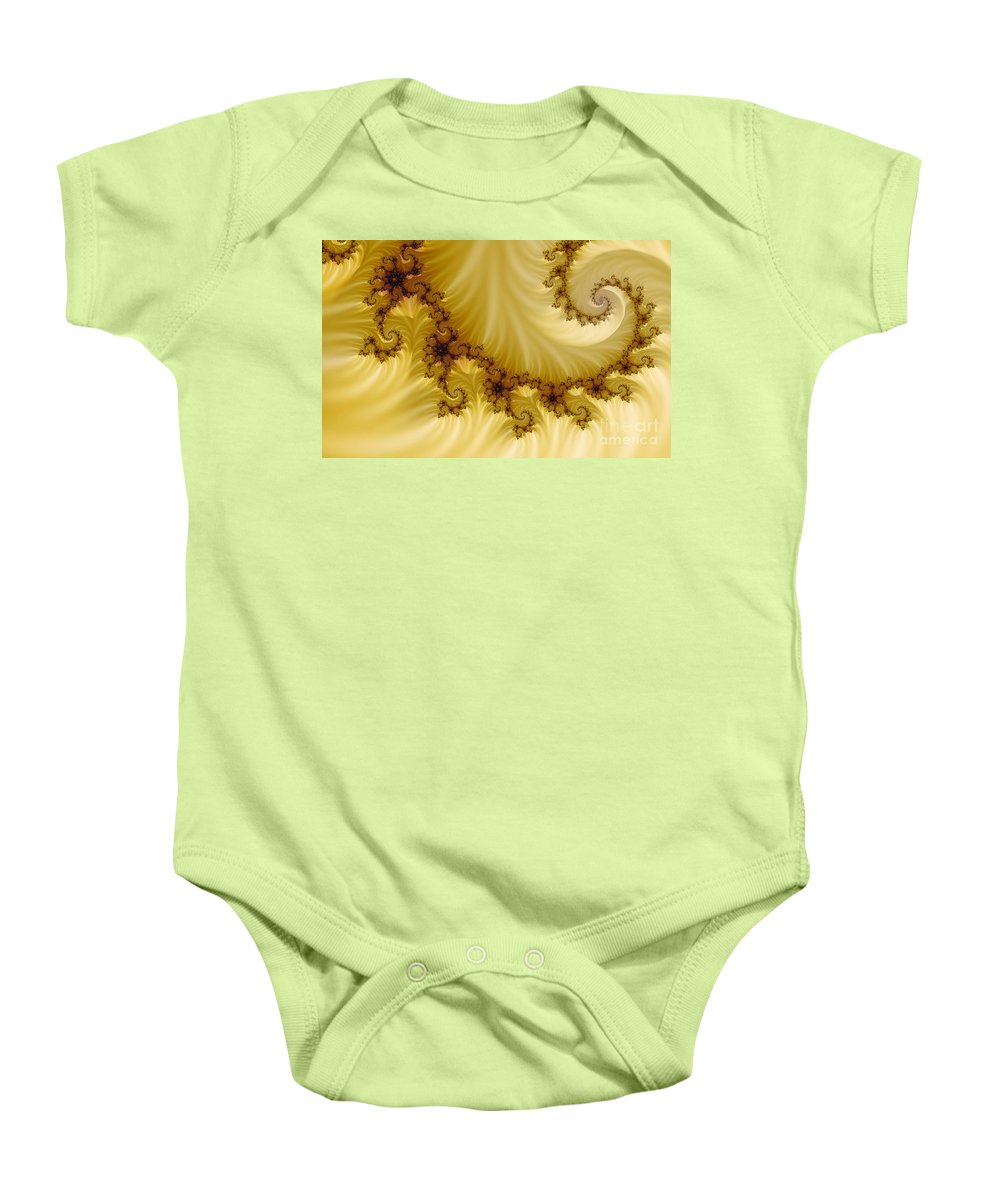Clay Baby Onesie featuring the digital art Valleys by Clayton Bruster