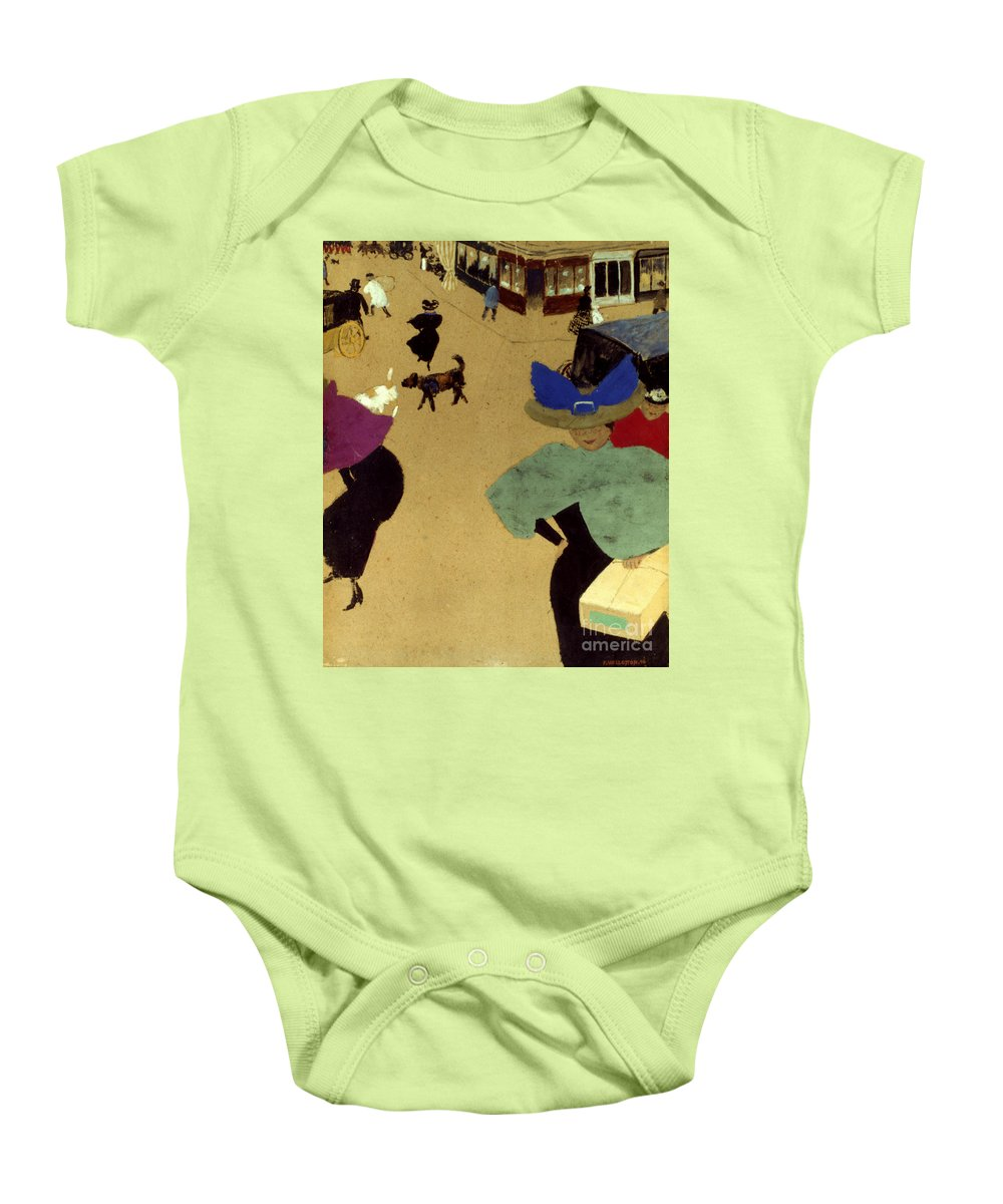 1895 Baby Onesie featuring the photograph Valloton: Street Corner by Granger
