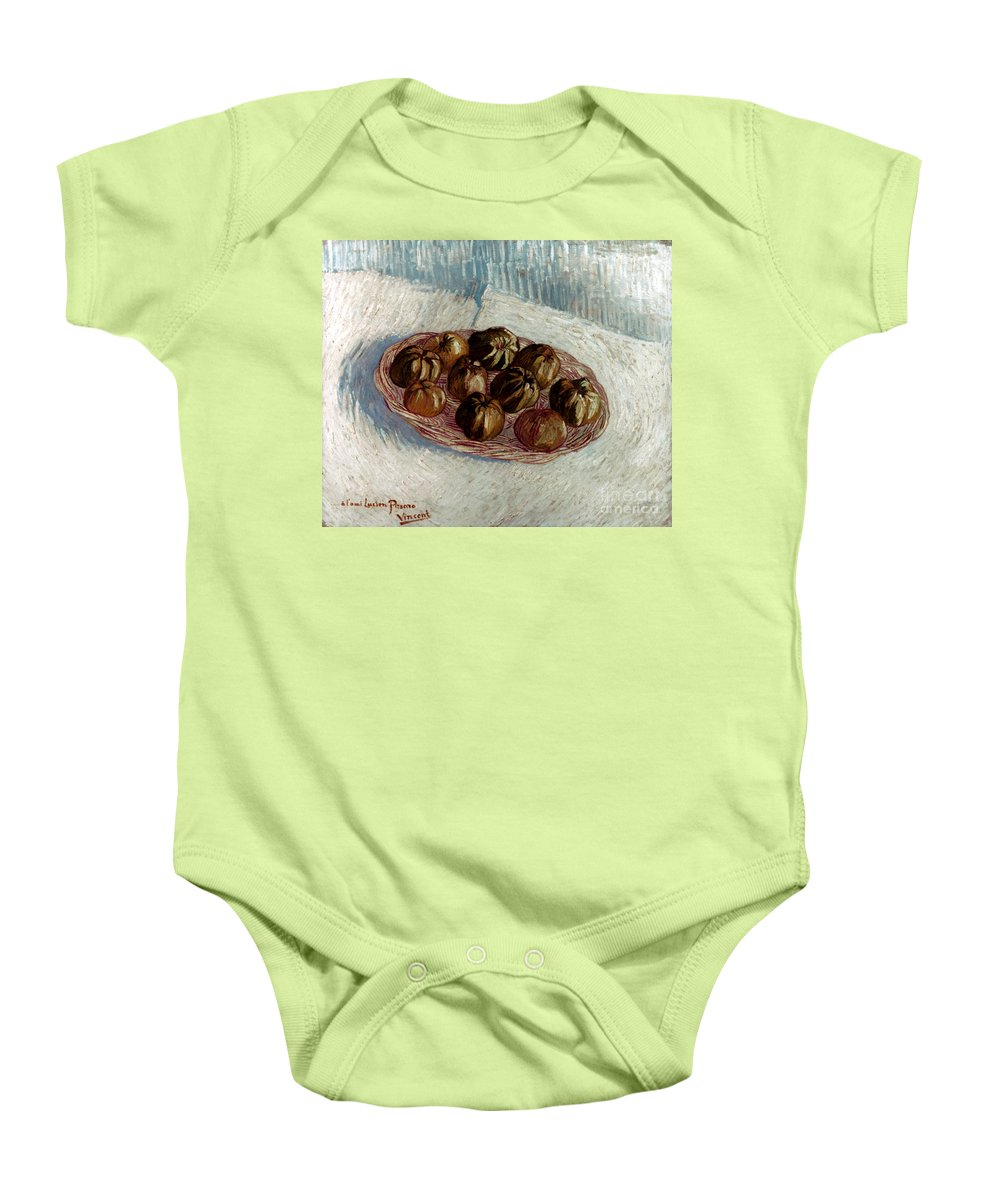 1887 Baby Onesie featuring the photograph Van Gogh: Apples, 1887 by Granger