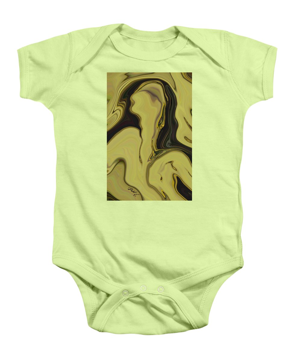 Art Baby Onesie featuring the digital art Venus by Rabi Khan