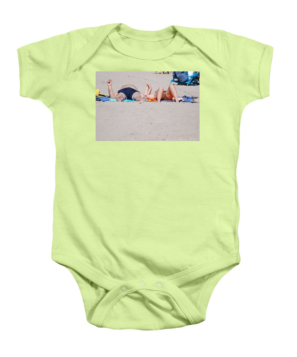 People Baby Onesie featuring the photograph Views At The Beach by Rob Hans