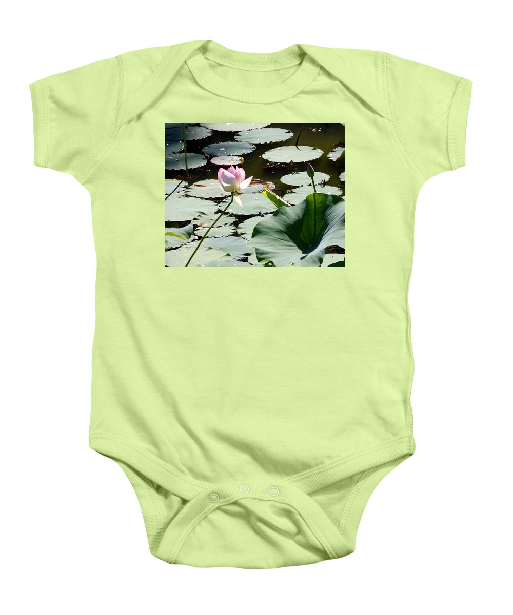 Floral Baby Onesie featuring the photograph Visit To Lilly Pond by David Lane