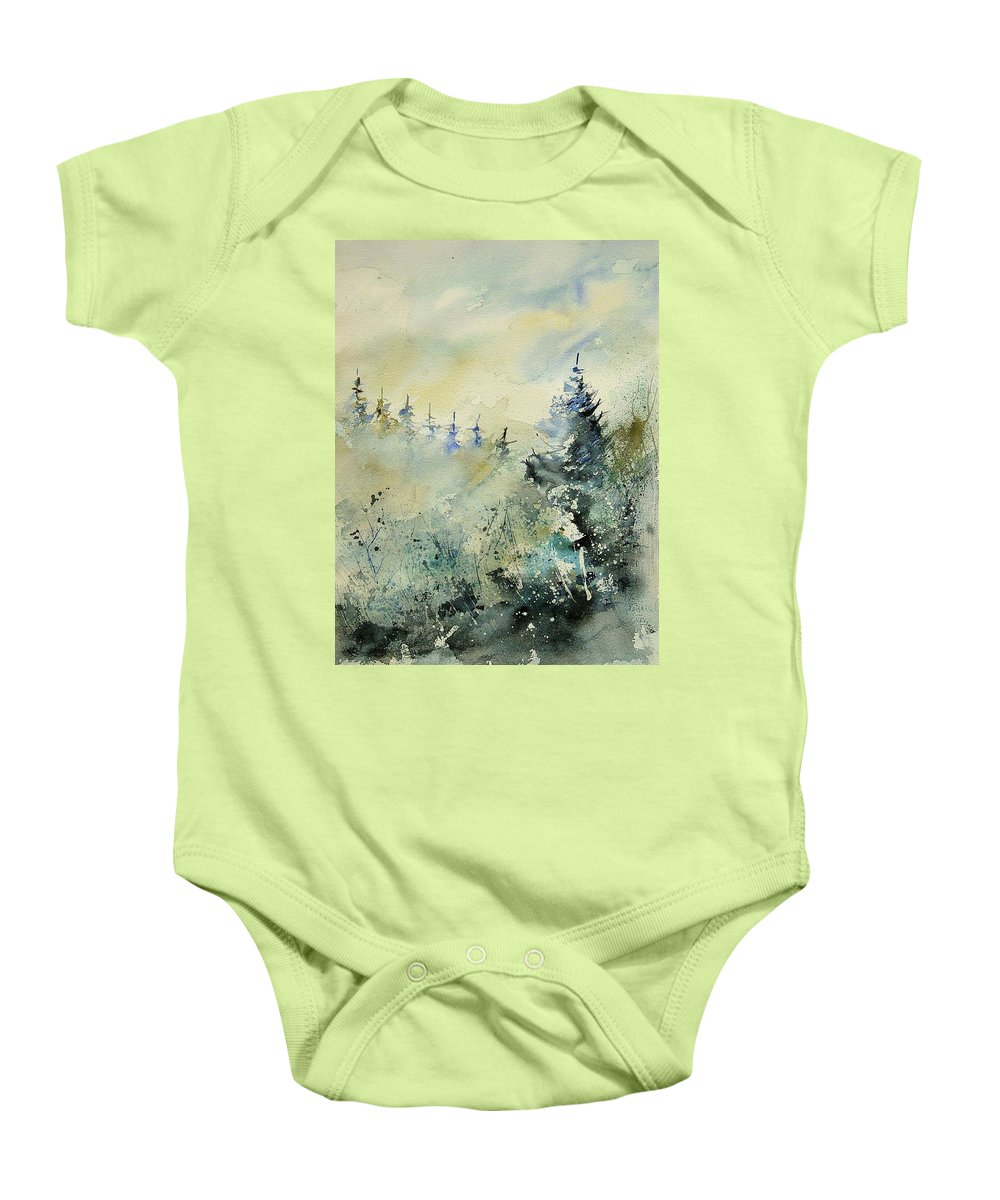 Winter Baby Onesie featuring the painting Watercolor 020307 by Pol Ledent