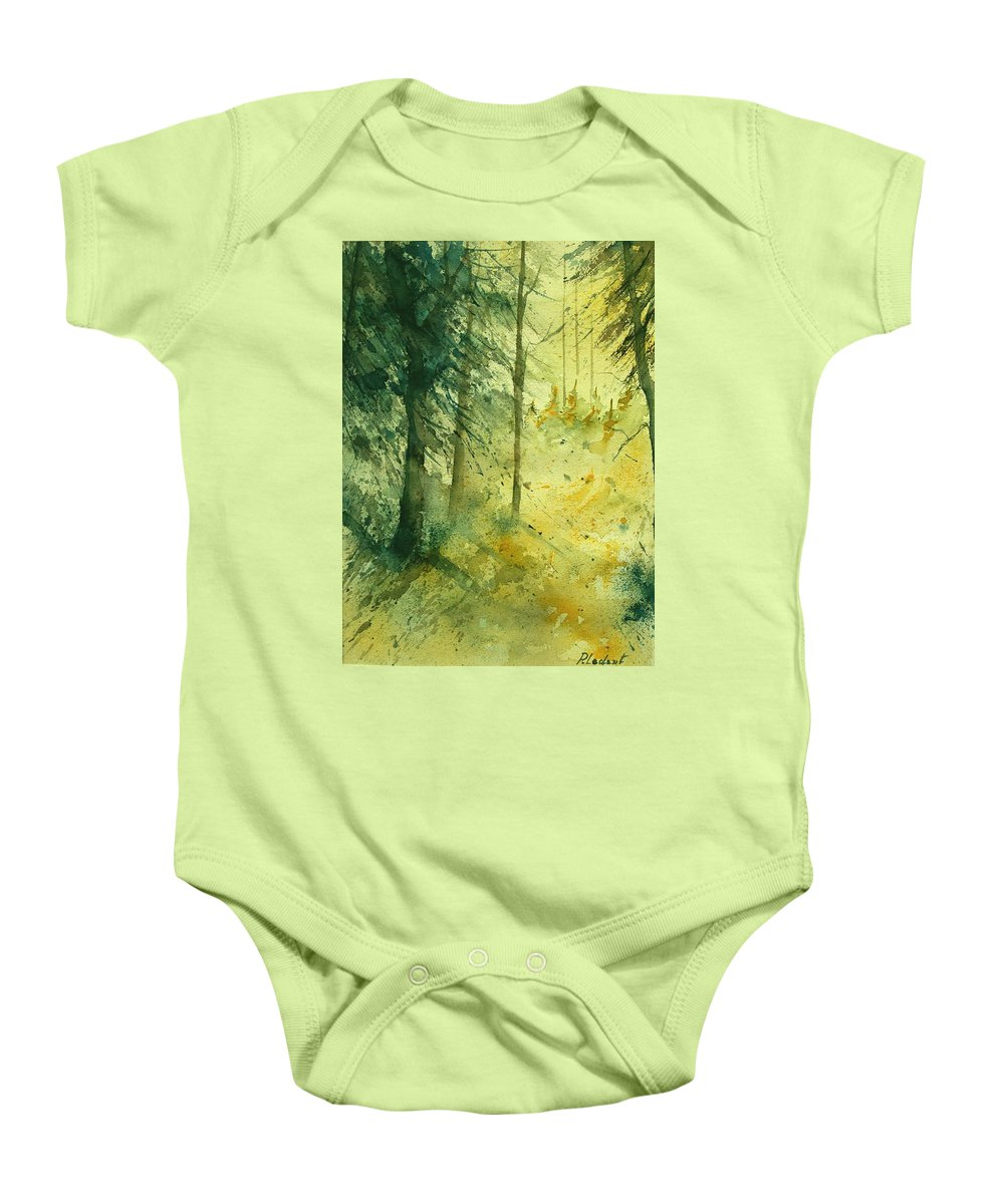 Tree Baby Onesie featuring the painting Watercolor 030106 by Pol Ledent