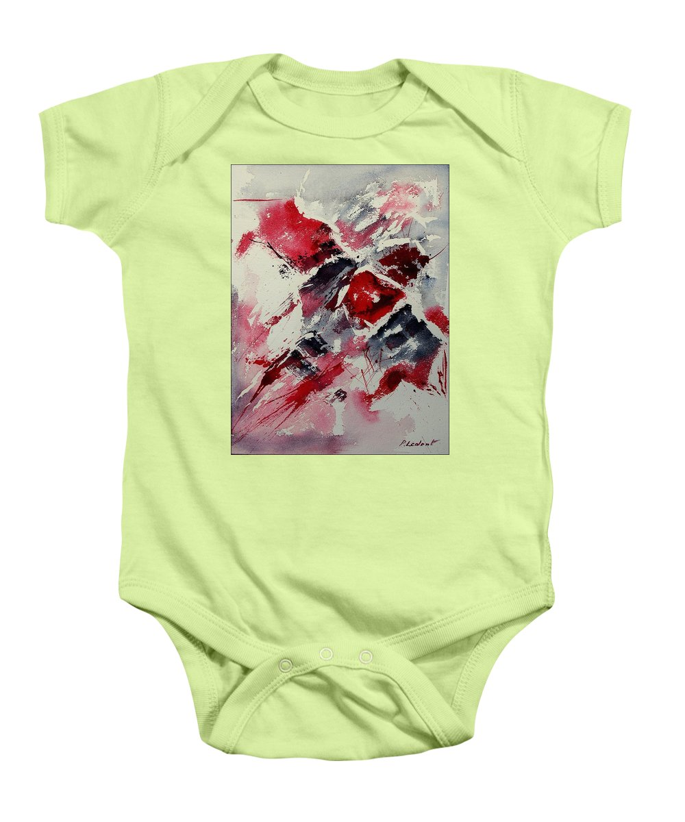 Abstract Baby Onesie featuring the painting Watercolor 050407 by Pol Ledent