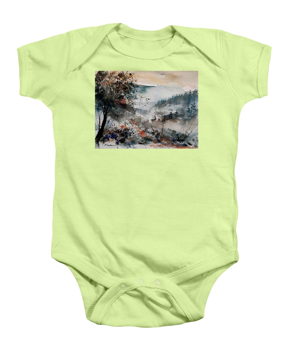 Winter Baby Onesie featuring the painting Watercolor 081108 by Pol Ledent