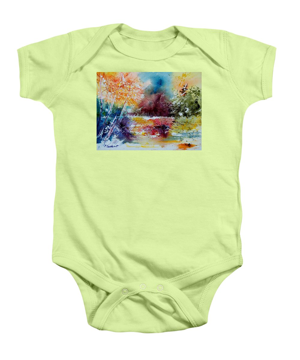 Pond Baby Onesie featuring the painting Watercolor 140908 by Pol Ledent