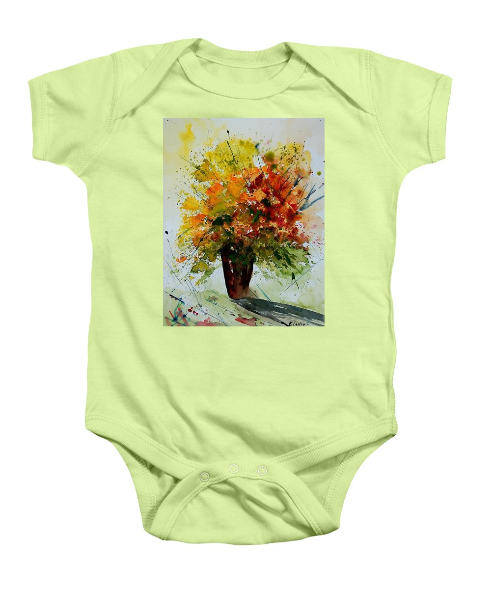 Flowers Baby Onesie featuring the painting Watercolor 290806 by Pol Ledent