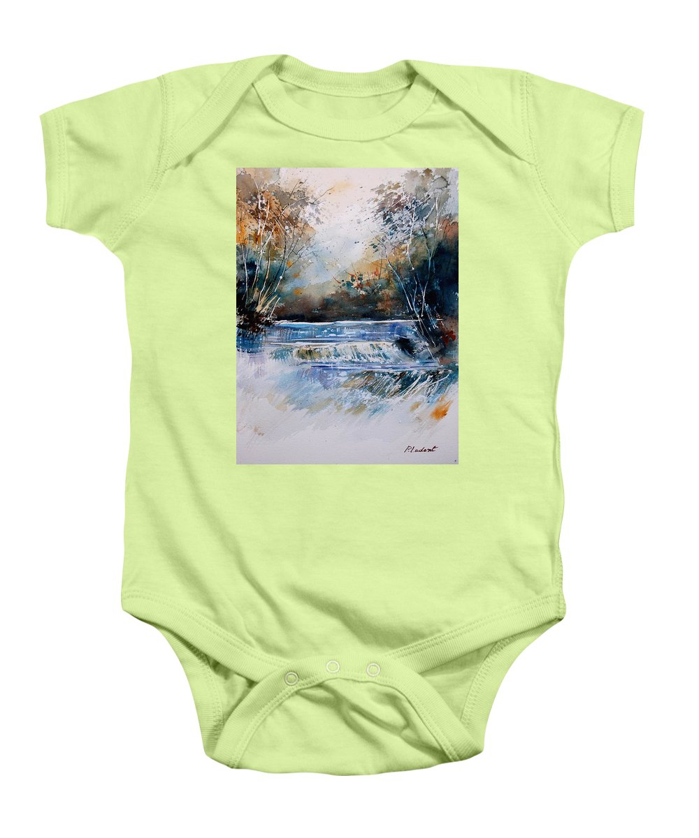 Water Baby Onesie featuring the painting Watercolor 902021 by Pol Ledent