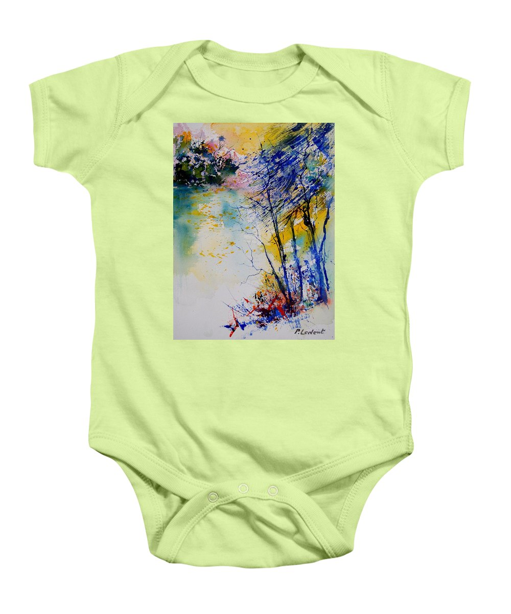 Water Baby Onesie featuring the painting Watercolor 902081 by Pol Ledent