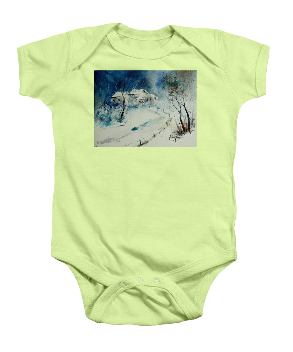 Winter Baby Onesie featuring the painting Watercolor 905001 by Pol Ledent
