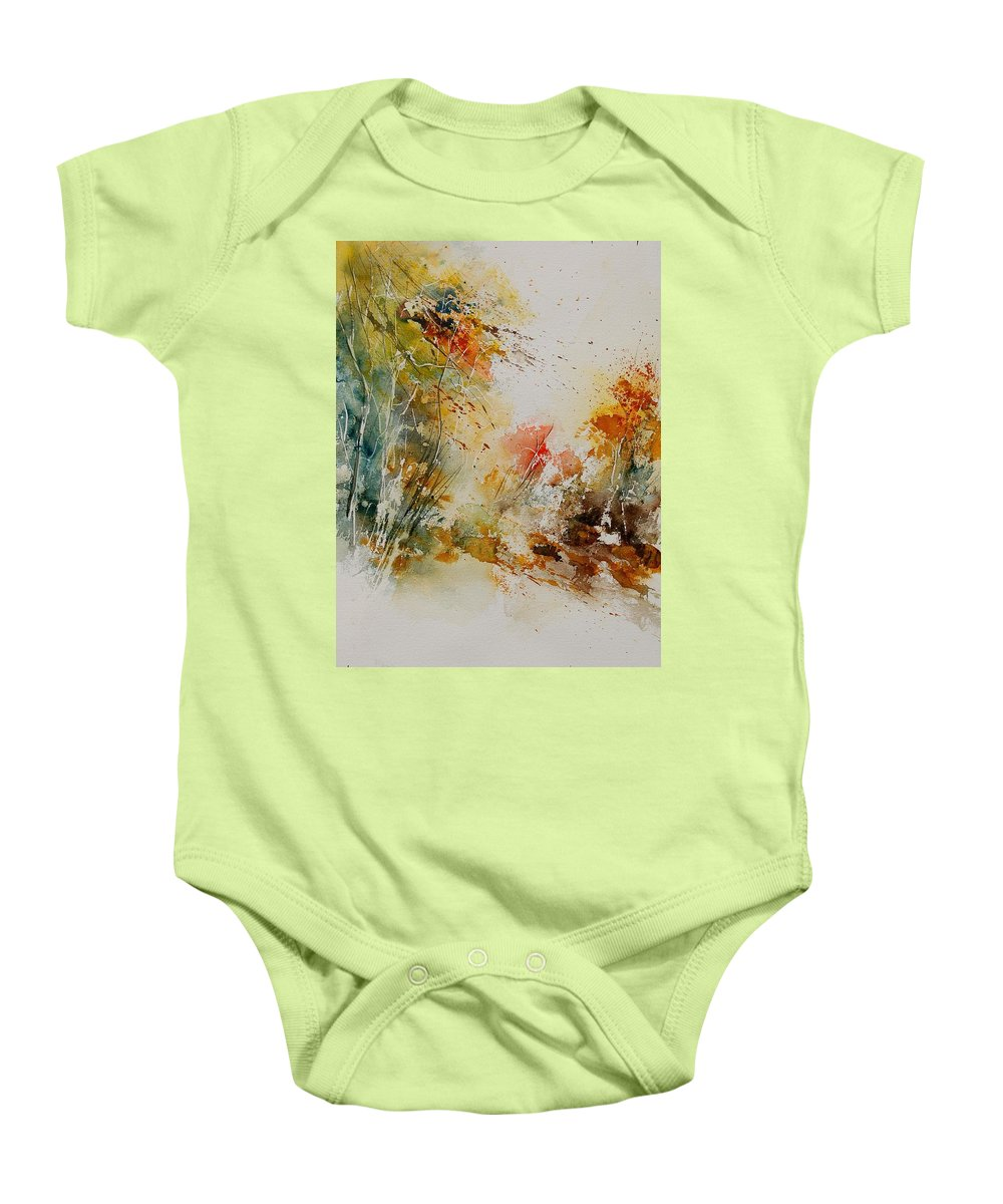 Tree Baby Onesie featuring the painting Watercolor 905022 by Pol Ledent