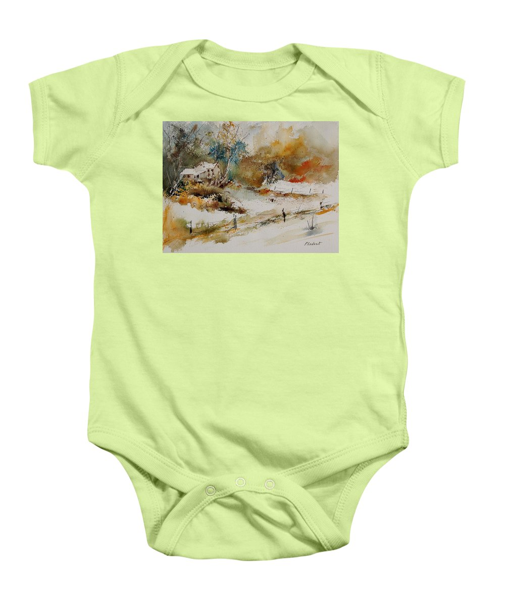 Tree Baby Onesie featuring the painting Watercolor 905061 by Pol Ledent
