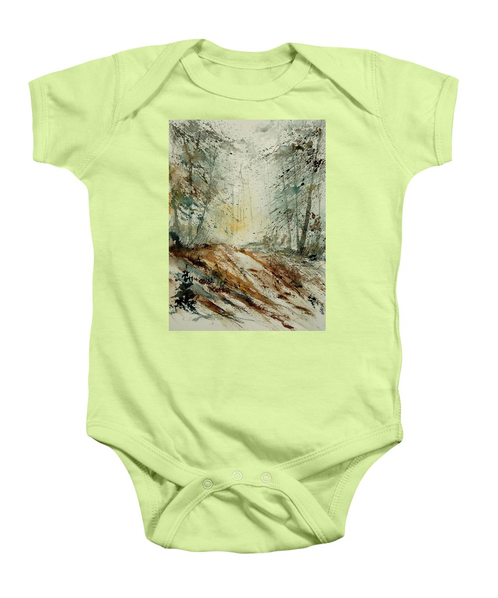 River Baby Onesie featuring the painting Watercolor 907013 by Pol Ledent