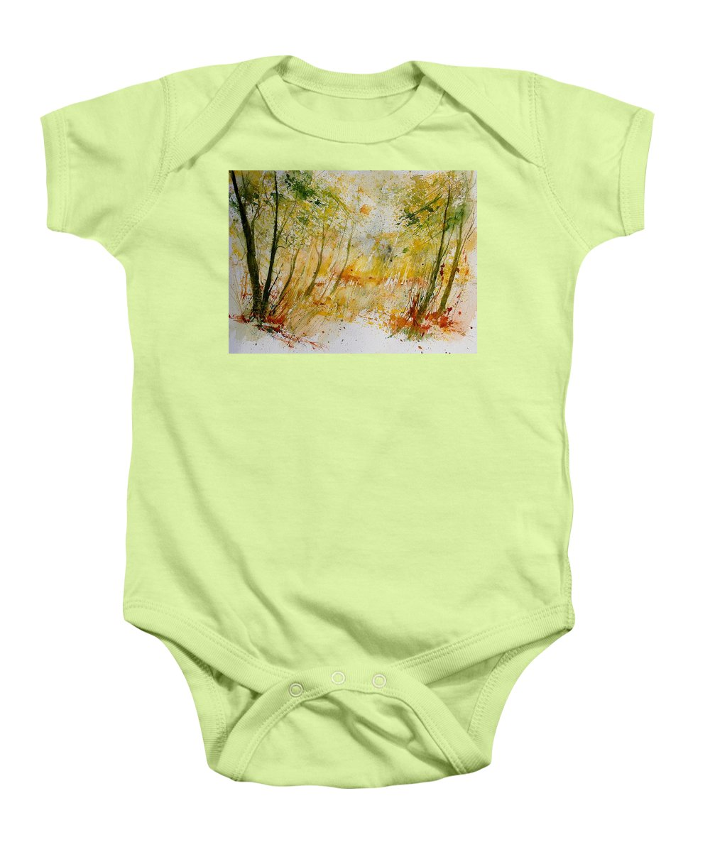 Tree Baby Onesie featuring the painting Watercolor 908012 by Pol Ledent