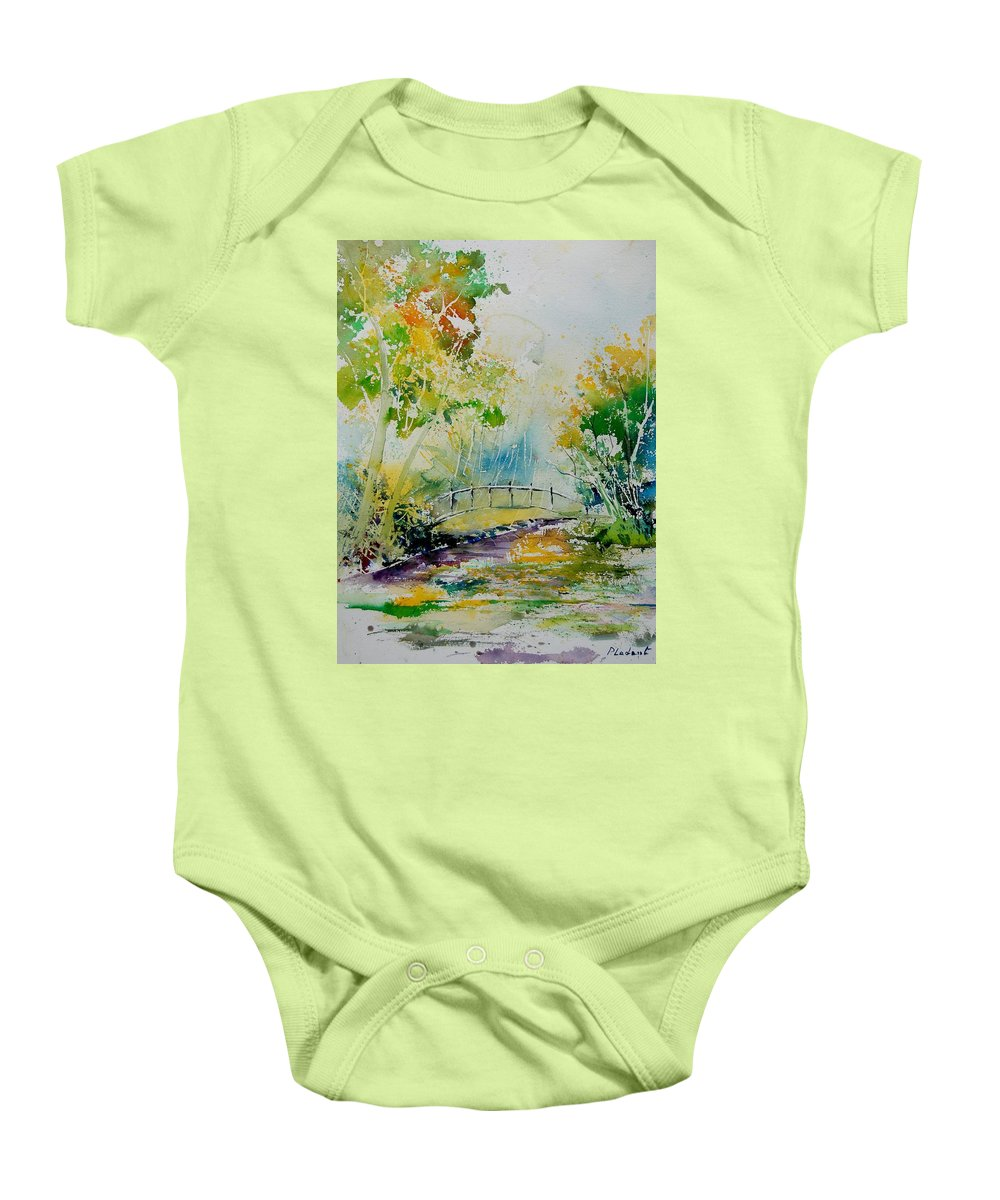 Water Baby Onesie featuring the painting Watercolor 908020 by Pol Ledent
