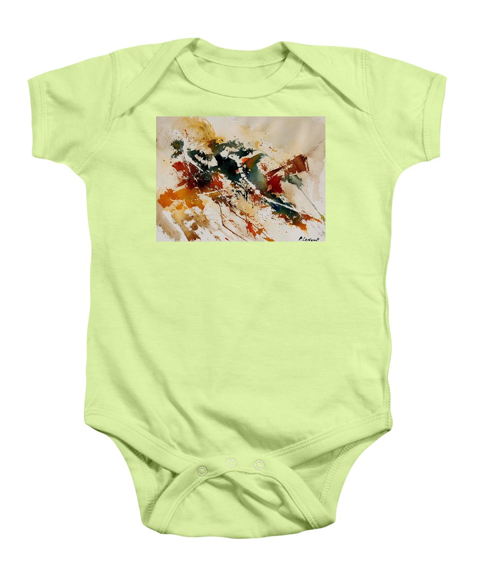 Abstract Baby Onesie featuring the painting Watercolor 90861 by Pol Ledent