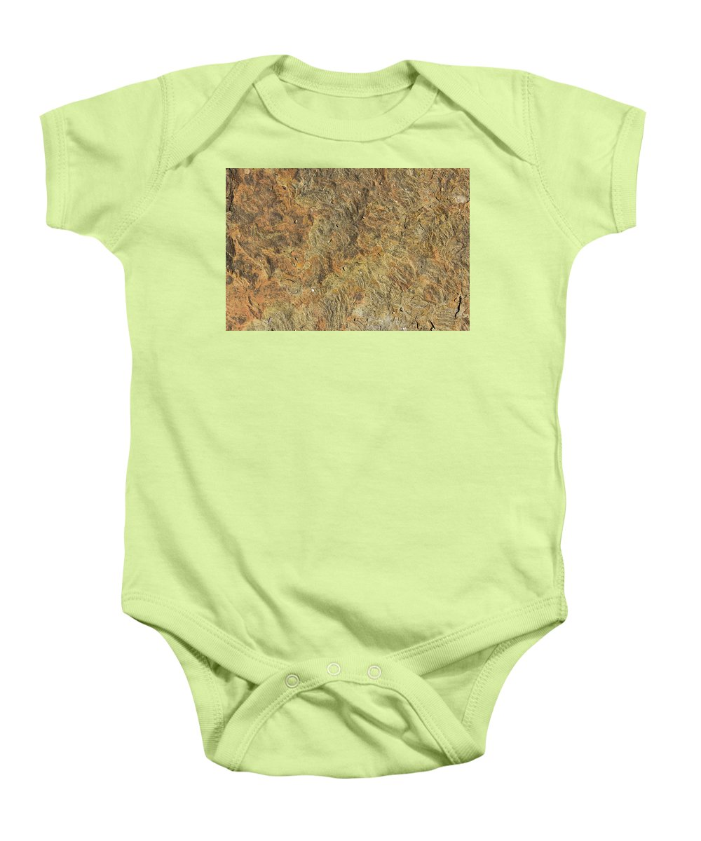 Frame Baby Onesie featuring the photograph Weathered Yorkstone Paving by Joseph Clemson