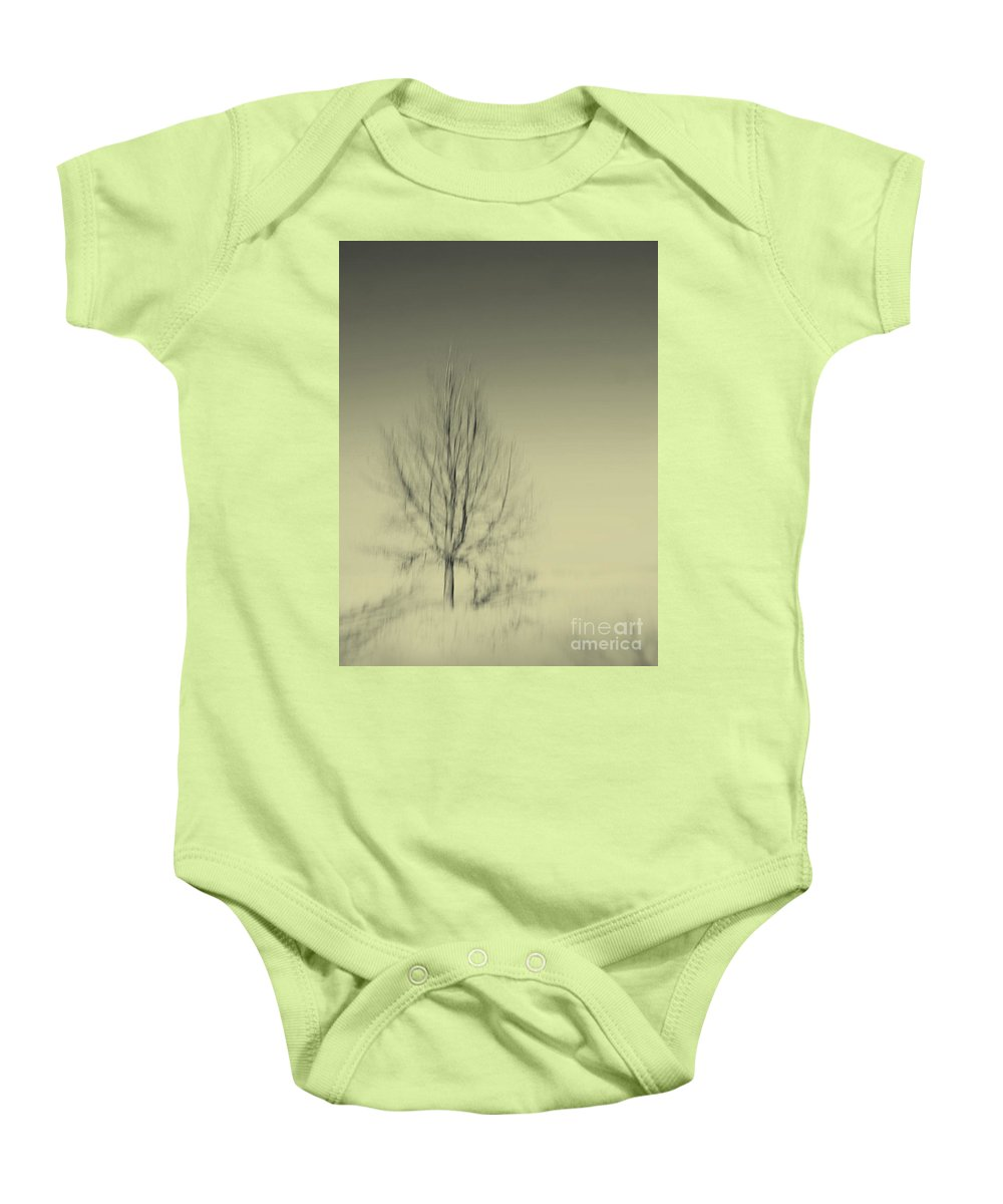 Dipasquale Baby Onesie featuring the photograph When You Wake Up I Will Have Gone by Dana DiPasquale