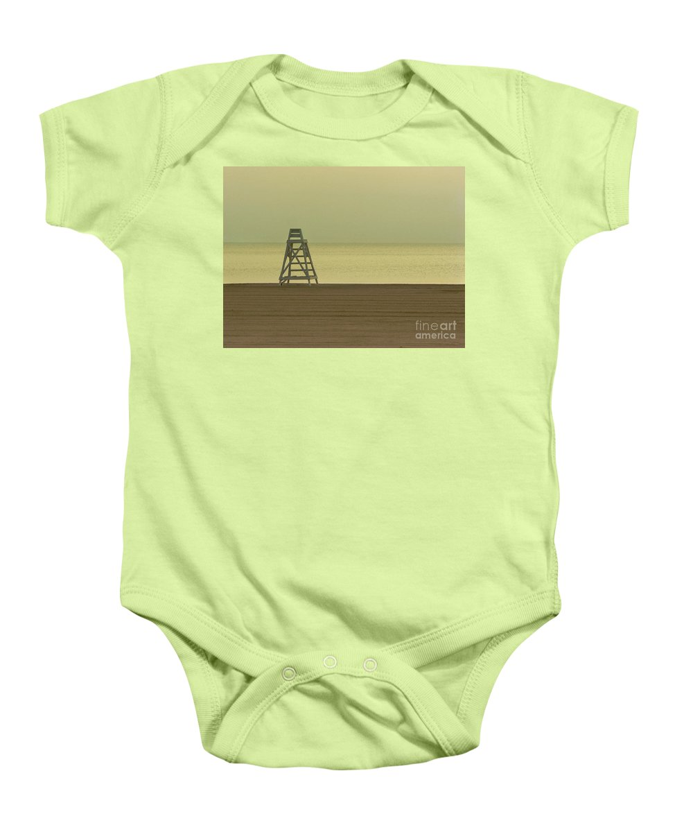 Beach Baby Onesie featuring the photograph Will You Lay Here With Me And Just Forget The World by Dana DiPasquale