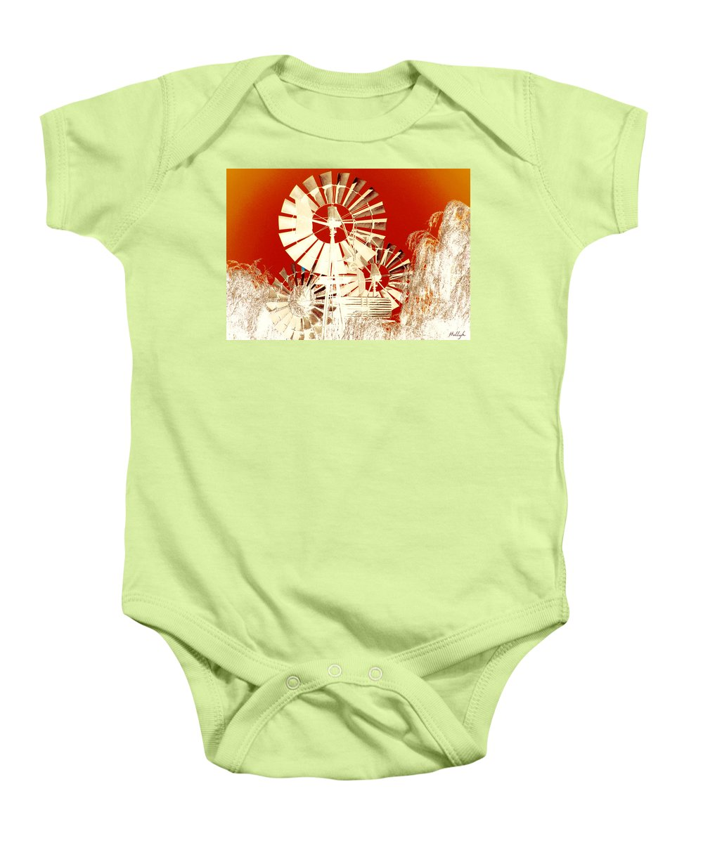 Landscapes Baby Onesie featuring the photograph Wind In The Willows by Holly Kempe