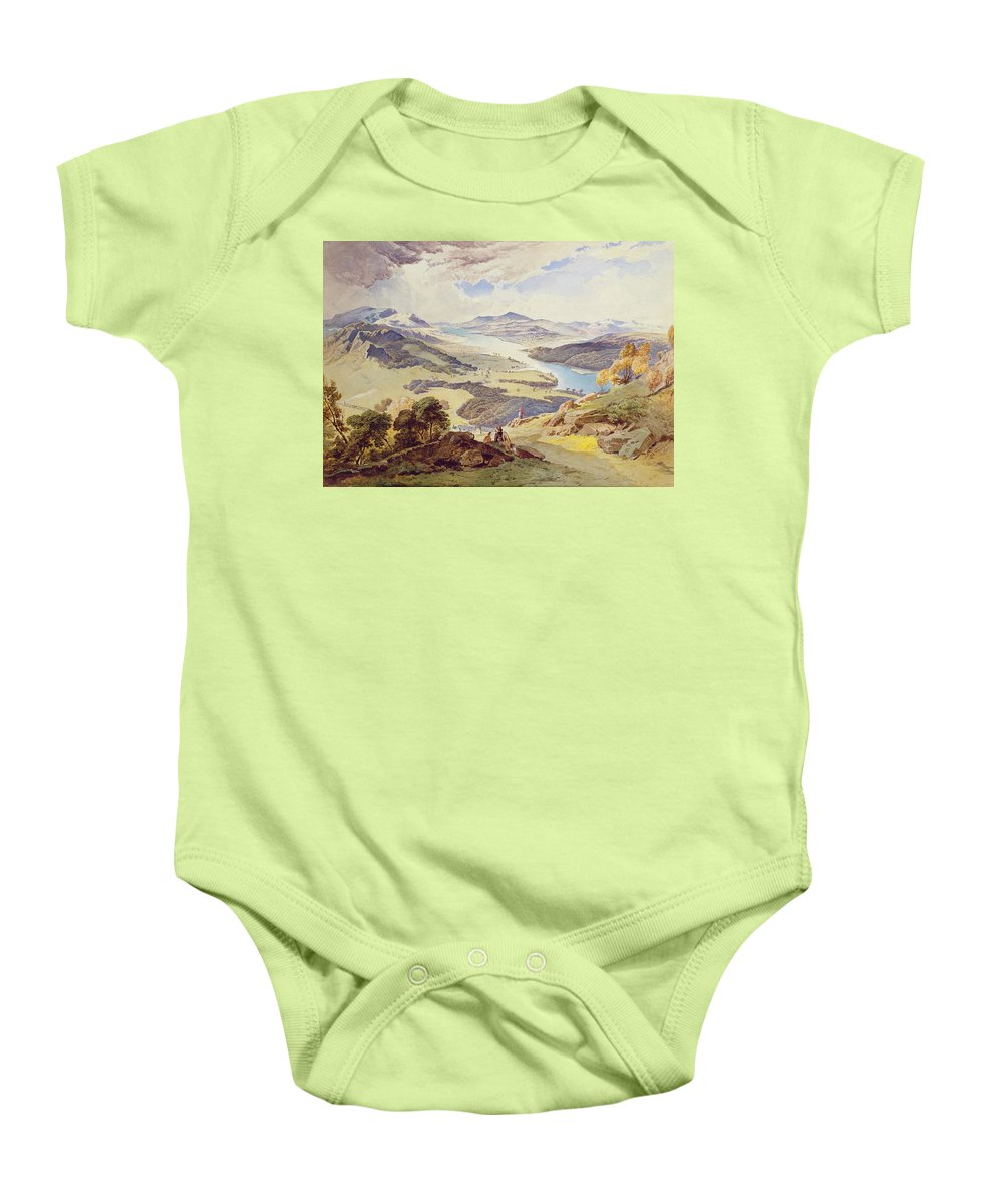 Windermere Baby Onesie featuring the painting Windermere From Ormot Head by William Turner