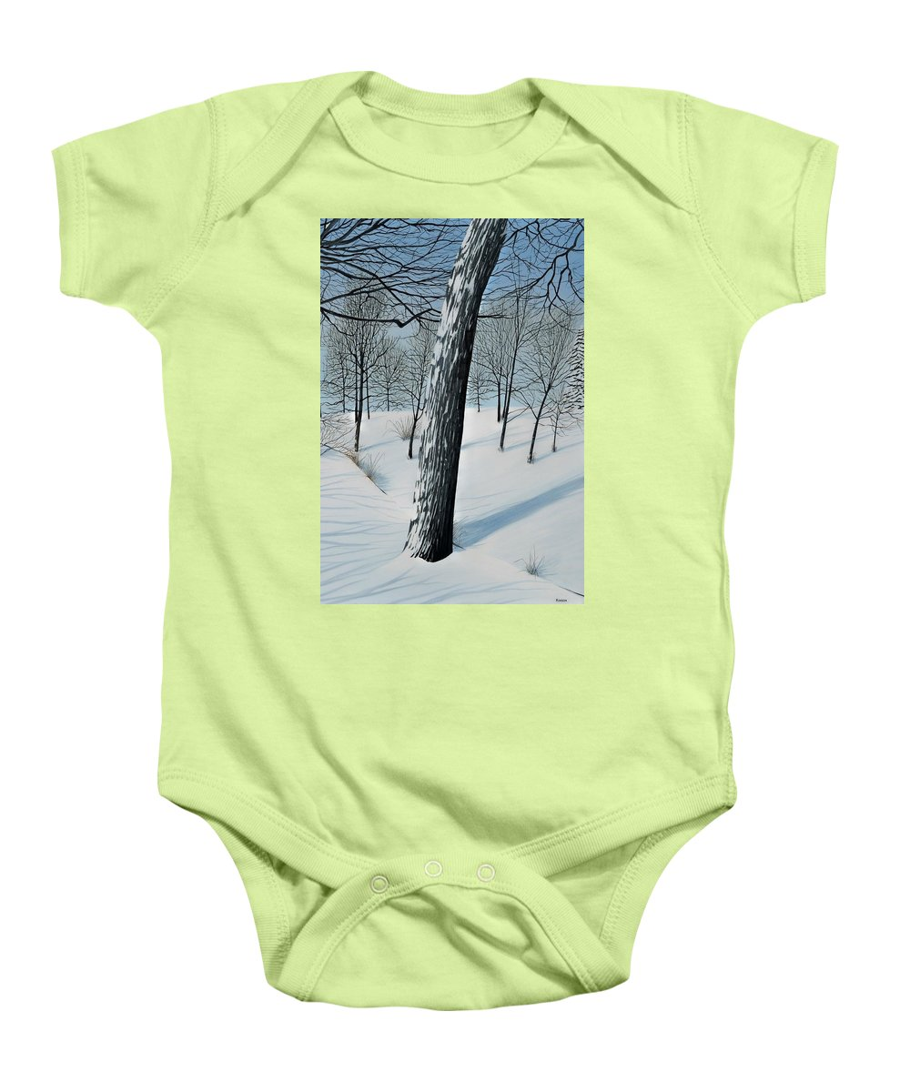 Landscape Baby Onesie featuring the painting Winter Maple by Kenneth M Kirsch
