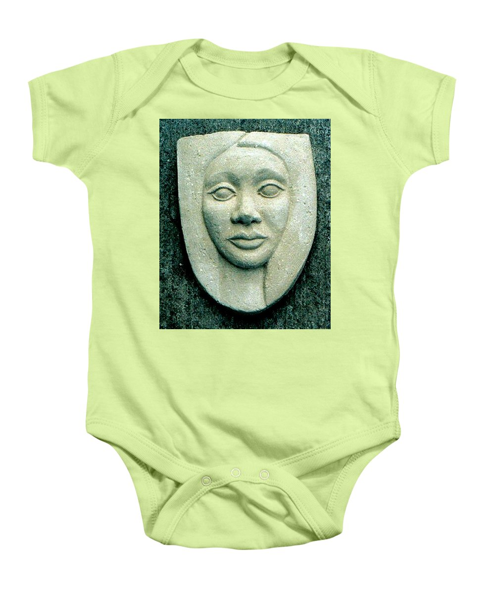Relief Baby Onesie featuring the relief Without Veils by Madalena Lobao-Tello