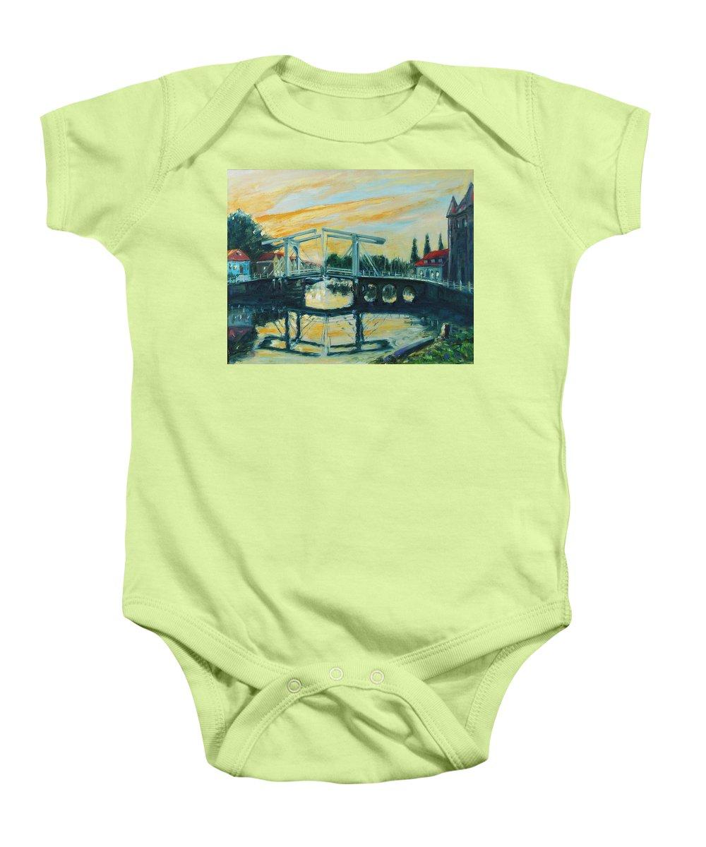 Bridge Baby Onesie featuring the painting Zeeland by Rick Nederlof