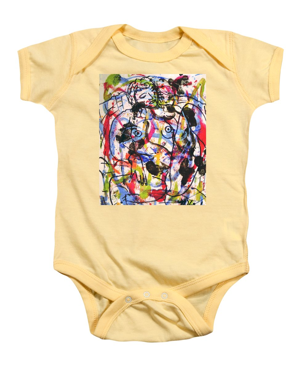 Erotic Baby Onesie featuring the painting  Erotic Nude by Natalie Holland