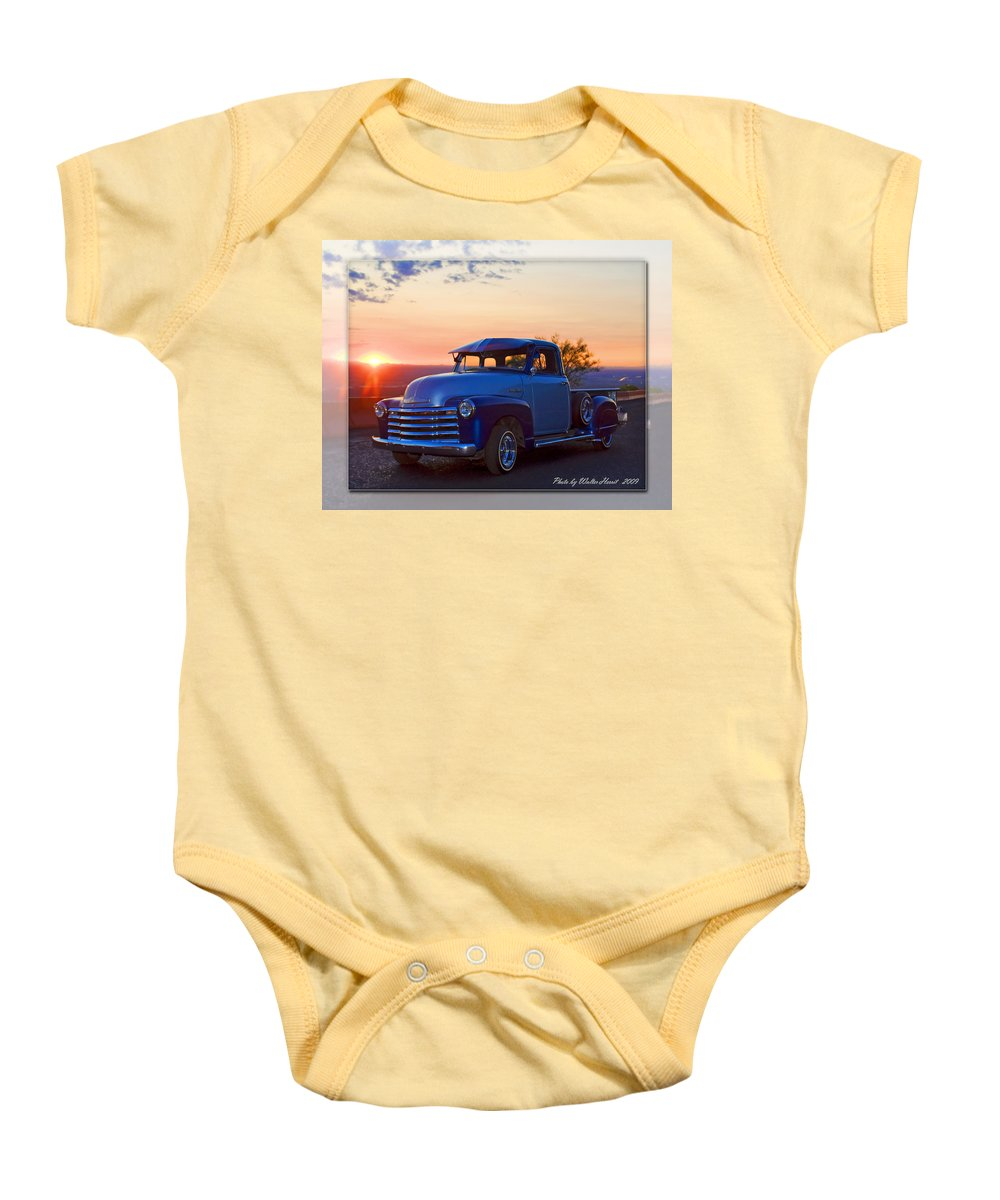 1951 Chevrolet Pick Up Baby Onesie featuring the photograph 1951 Chevy Pick Up by Walter Herrit