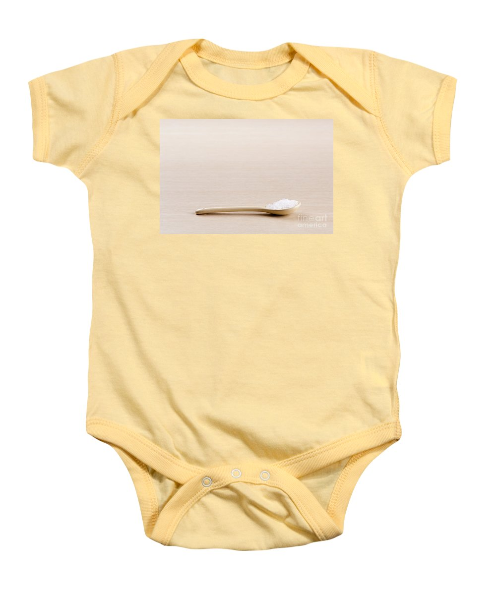 Herbs Baby Onesie featuring the photograph Salt by Tim Hester