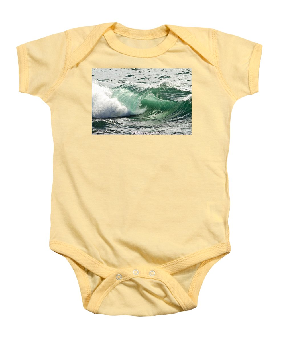 Heiko Baby Onesie featuring the photograph Surf Zone At The Barents Sea Coast by Heiko Koehrer-Wagner